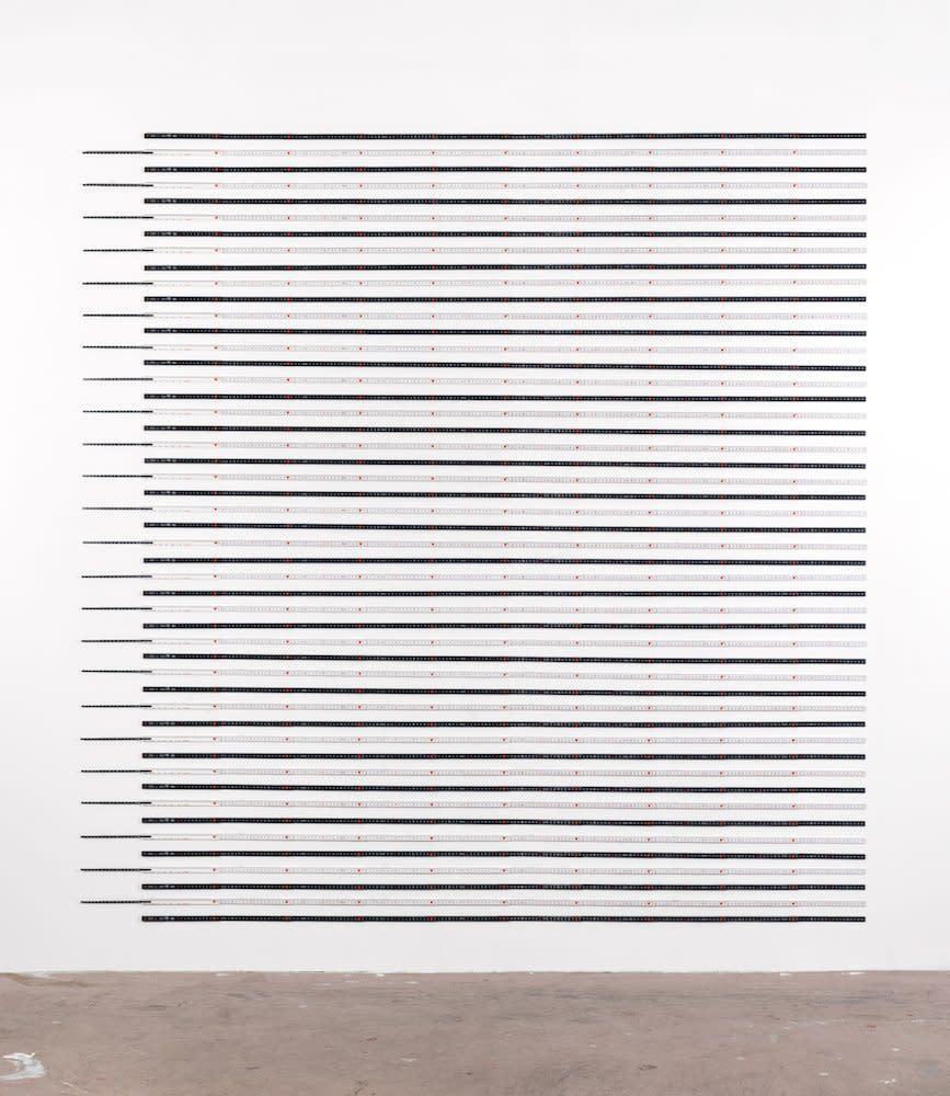<span class=&#34;link fancybox-details-link&#34;><a href=&#34;/artists/44-jacob-dahlgren/works/7403/&#34;>View Detail Page</a></span><div class=&#34;artist&#34;><strong>Jacob Dahlgren</strong></div> <div class=&#34;title&#34;><em>Units of Measurements</em>, 2012</div> <div class=&#34;medium&#34;>Folding rulers</div> <div class=&#34;dimensions&#34;>217 x 217 cm<br />85 3/8 x 85 3/8 in</div><div class=&#34;copyright_line&#34;>Copyright The Artist</div>