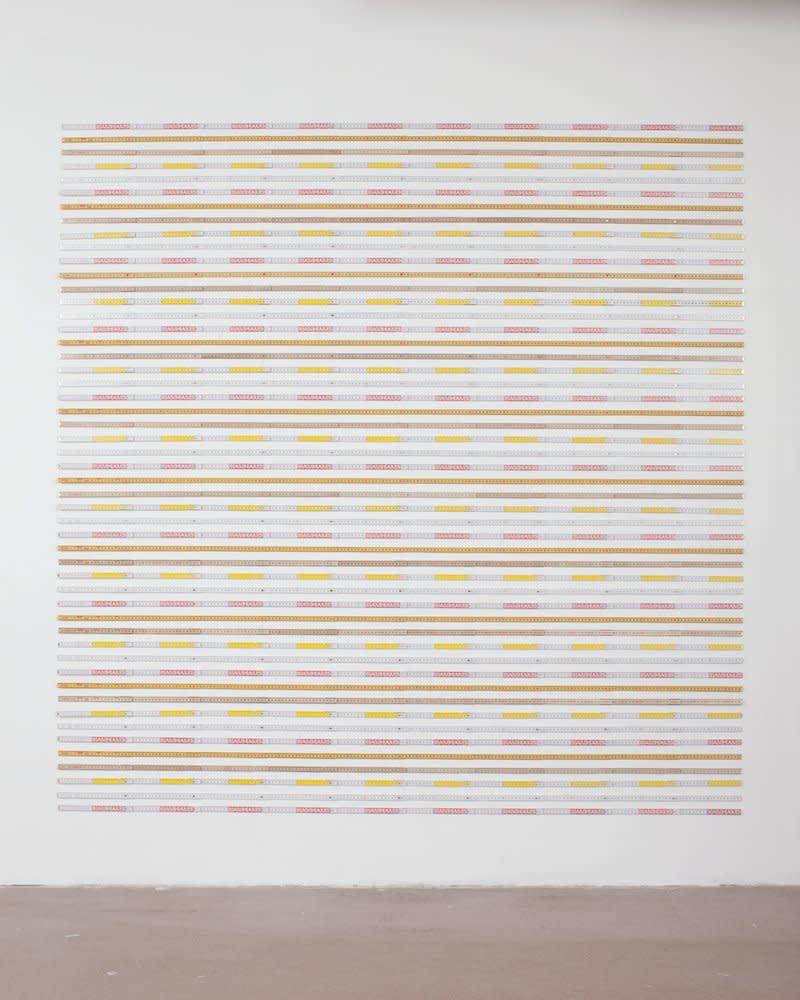 <span class=&#34;link fancybox-details-link&#34;><a href=&#34;/artists/44-jacob-dahlgren/works/7044/&#34;>View Detail Page</a></span><div class=&#34;artist&#34;><strong>Jacob Dahlgren</strong></div> <div class=&#34;title&#34;><em>Unit of Measurements</em>, 2011</div> <div class=&#34;medium&#34;>Folding rulers</div> <div class=&#34;dimensions&#34;>204 x 200 cm<br />80 1/4 x 78 3/4 in</div><div class=&#34;copyright_line&#34;>Copyright The Artist</div>