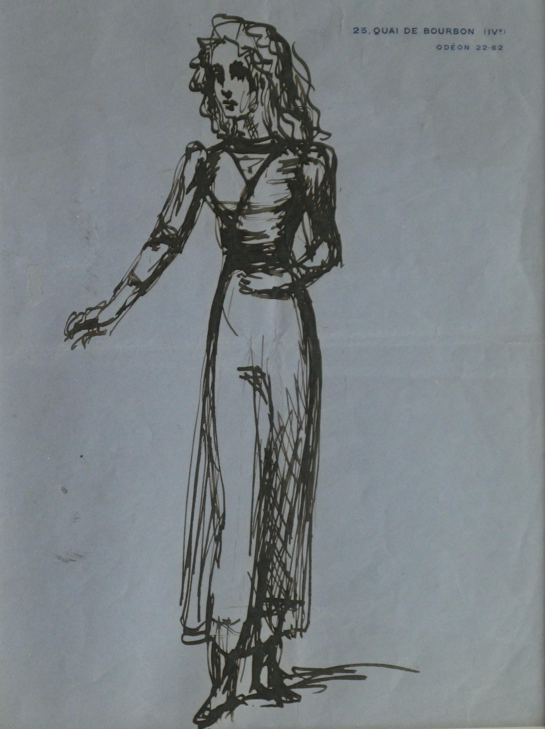 Study of Iya Abdy, by Balthus. Image via Artlogic.