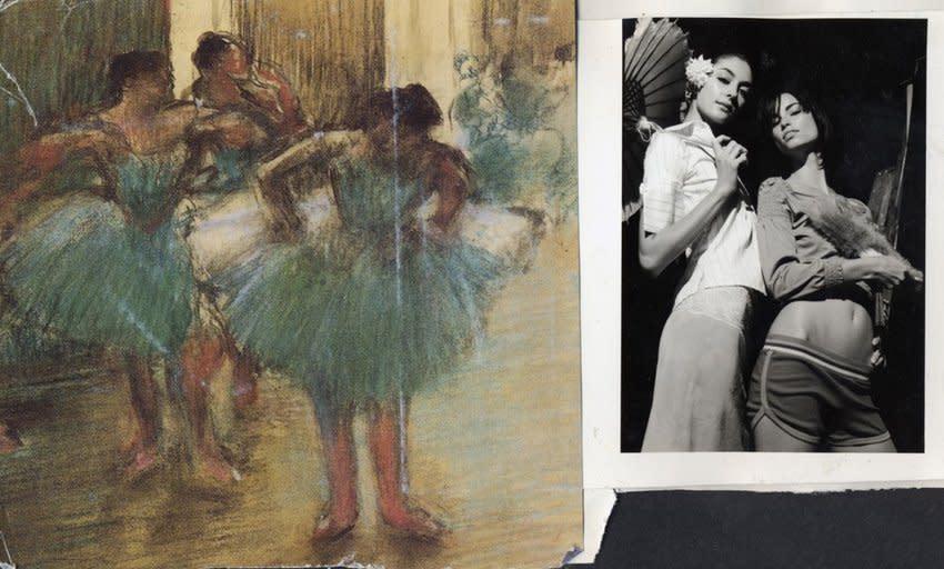 "<span class=""link fancybox-details-link""><a href=""/artists/27/series/collages-%26-women/301/"">View Detail Page</a></span><div class=""artist""><strong>Robert Dimin</strong></div> <div class=""title""><em>Annie, Danika & Degas</em>, 2002</div> <div class=""medium"">Collage</div> <div class=""dimensions"">20 x 24 inches<br />50.8 x 61 cms</div> <div class=""edition_details"">edition of 5 plus 1 artist's proofs</div>"
