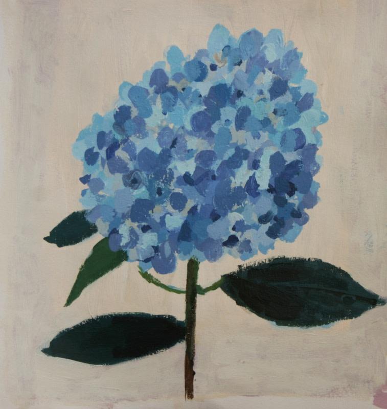 Charlotte Hardy Hydrangea Foss Fine Art