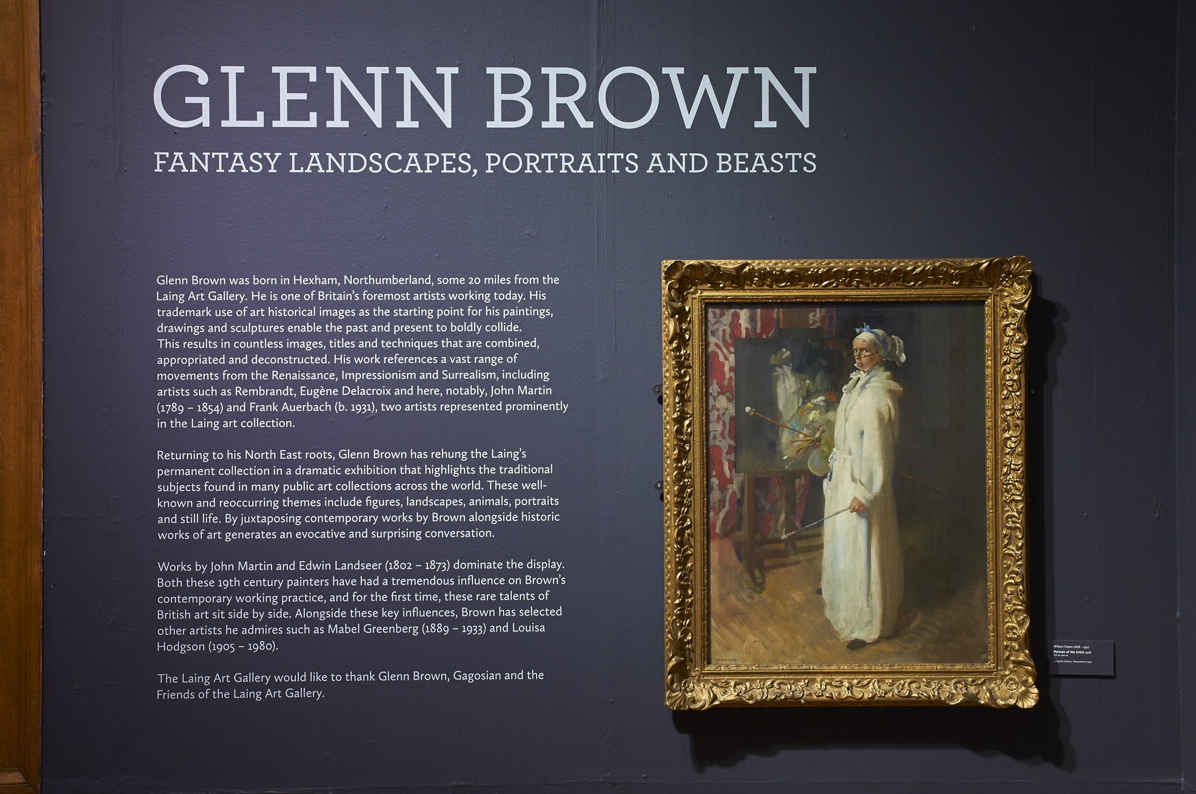 Glenn Brown Fantasy Landscapes Portraits And Beasts Laing