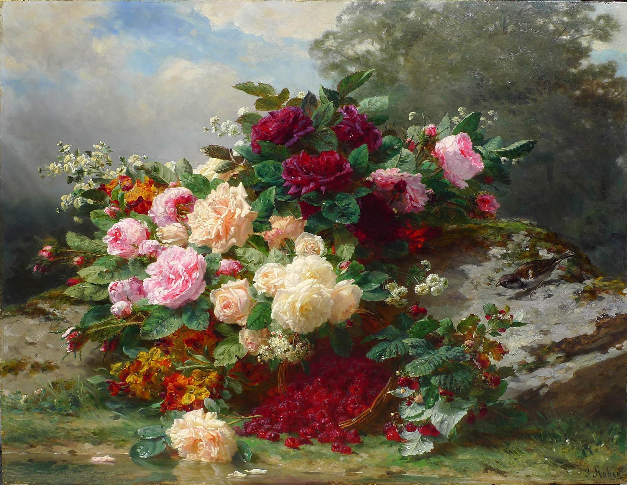 Jean Baptiste Robie Autumn Flowers Julian Simon Fine Art