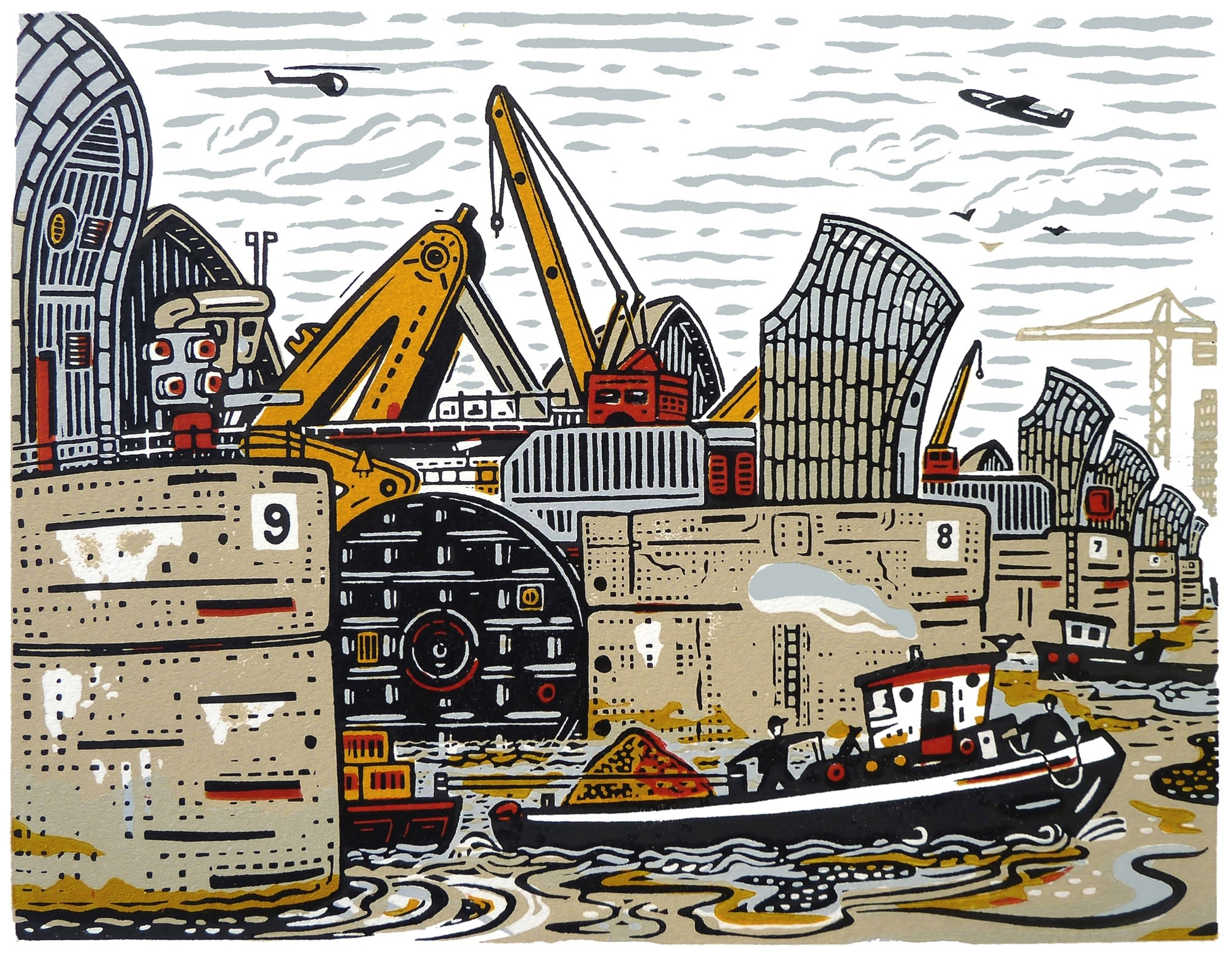"""<span class=""""link fancybox-details-link""""><a href=""""/exhibitions/17/works/image_standalone626/"""">View Detail Page</a></span><p><strong>Mick Armson</strong></p><p>Through the Barrier</p><p>linocut, ed of 60</p><p>47 x 41cm</p><p>£295 framed</p><p>£195 unframed</p>"""