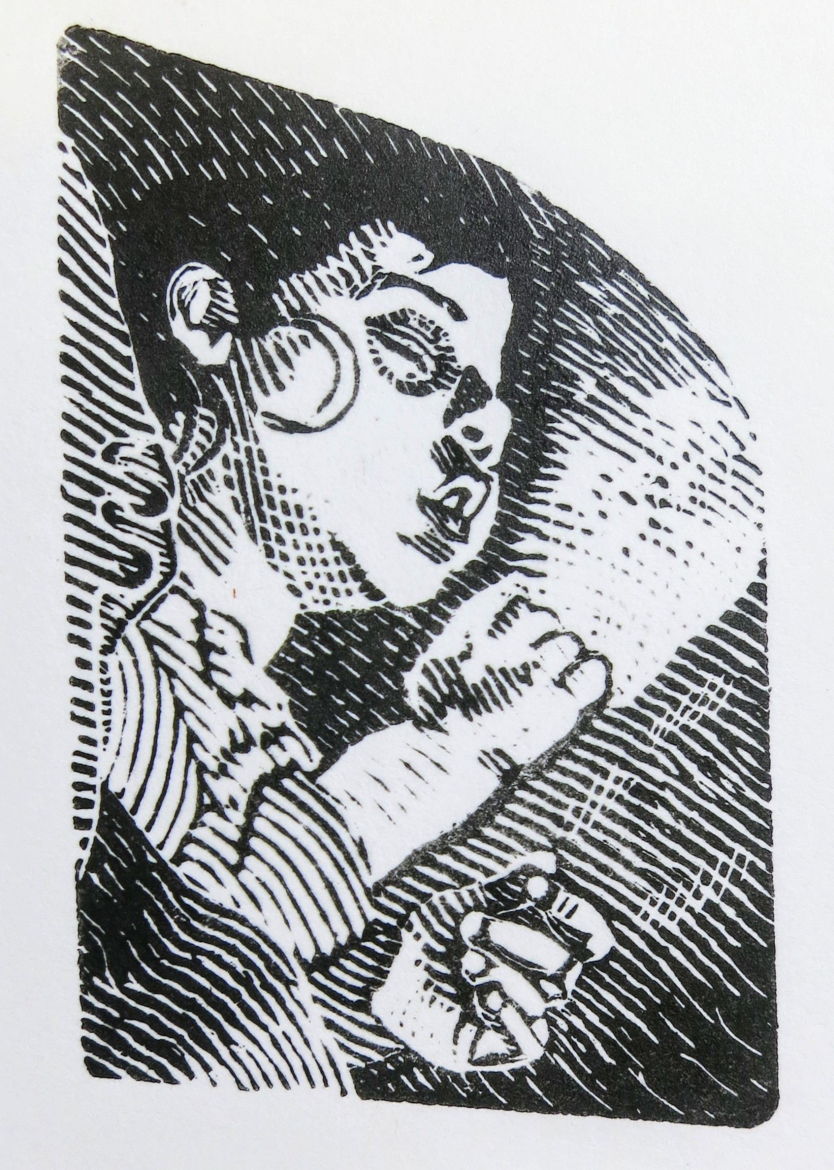 """<span class=""""link fancybox-details-link""""><a href=""""/exhibitions/17/works/image_standalone639/"""">View Detail Page</a></span><p><strong>Liam Beckett</strong></p><p>Sleeping Son</p><p>wood engraving, ed of 10</p><p>14 x 16cm</p><p>£190 framed</p><p>£90 unframed</p>"""