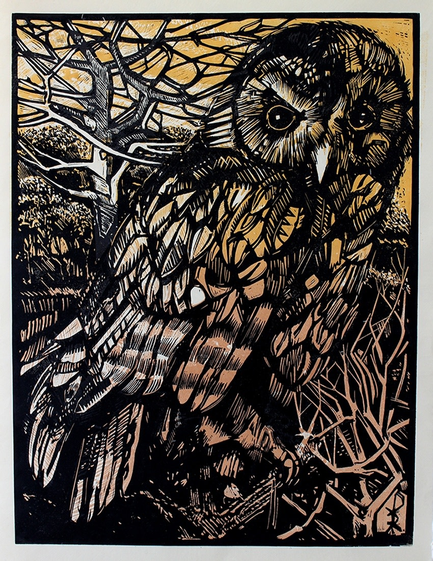 "<span class=""link fancybox-details-link""><a href=""/exhibitions/17/works/image_standalone636/"">View Detail Page</a></span><p><strong>Ian Burke</strong></p><p>Stonegate Owl</p><p>woodblcok and etched lino, ed of 35</p><p>95 x 80cm</p><p>£380 framed</p><p>£270 unframed</p>"