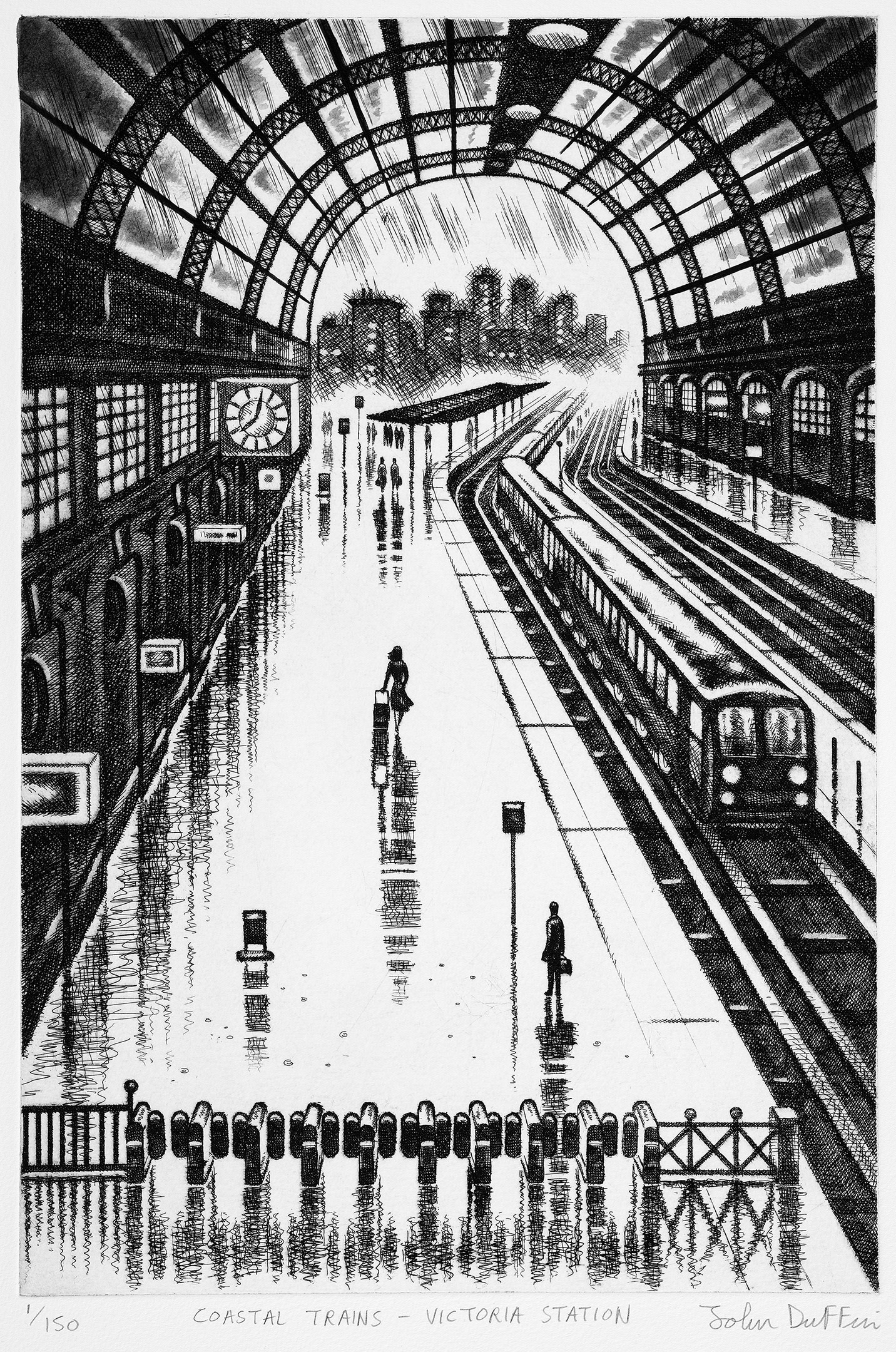 "<span class=""link fancybox-details-link""><a href=""/exhibitions/17/works/image_standalone672/"">View Detail Page</a></span><p><strong>John Duffin</strong></p><p>Coastal Trains - Victoria Station</p><p>etching, ed of 150</p><p>60 x 40cm</p><p>£295 framed</p><p>£195 unframed</p><p> </p>"