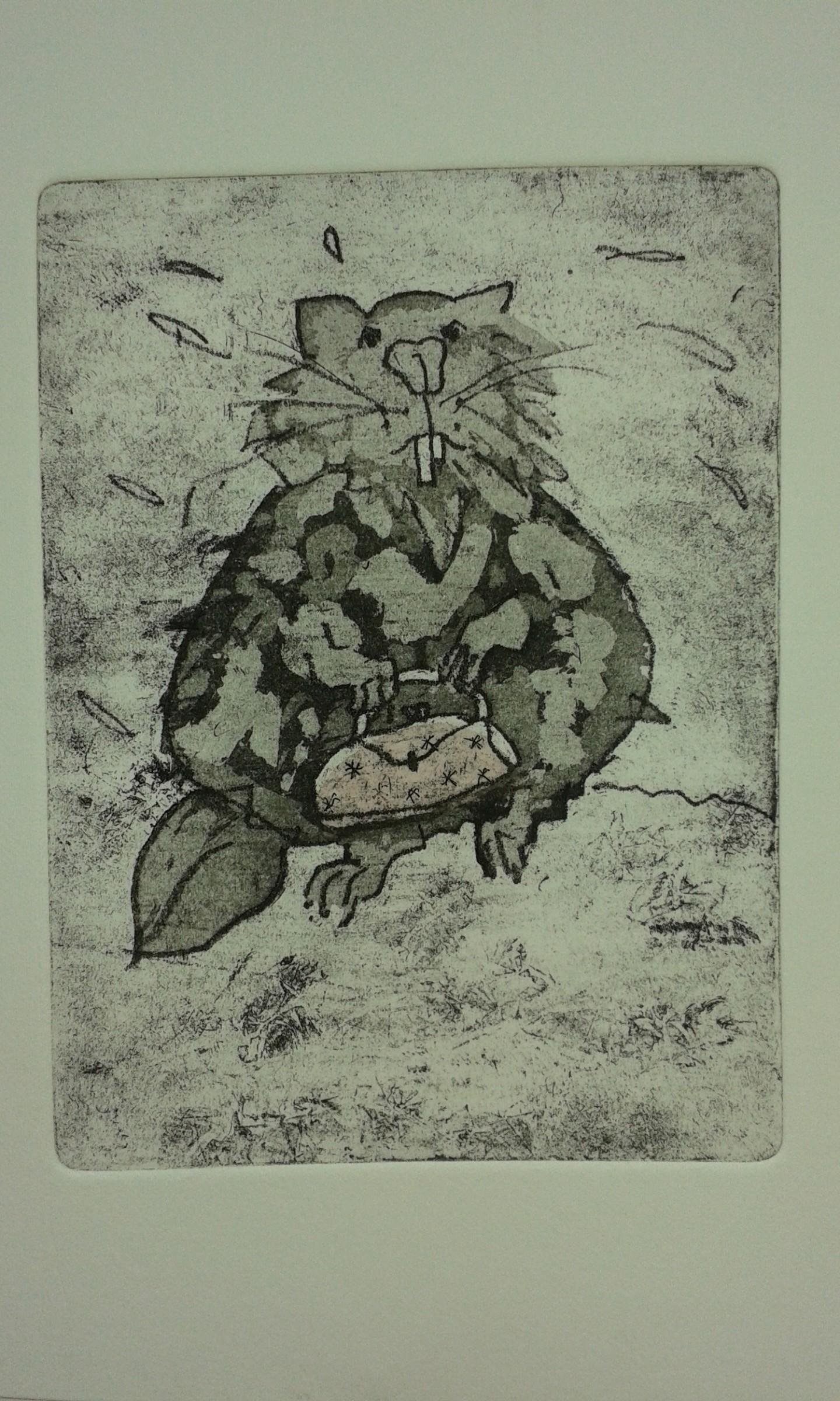 """<span class=""""link fancybox-details-link""""><a href=""""/exhibitions/17/works/image_standalone679/"""">View Detail Page</a></span><p><strong>Nina Federley</strong></p><p>New Handbag</p><p>etching, aquatint, chine collee, intaglio, 1/1</p><p>28 x 34cm</p><p>£160 framed</p><p></p>"""