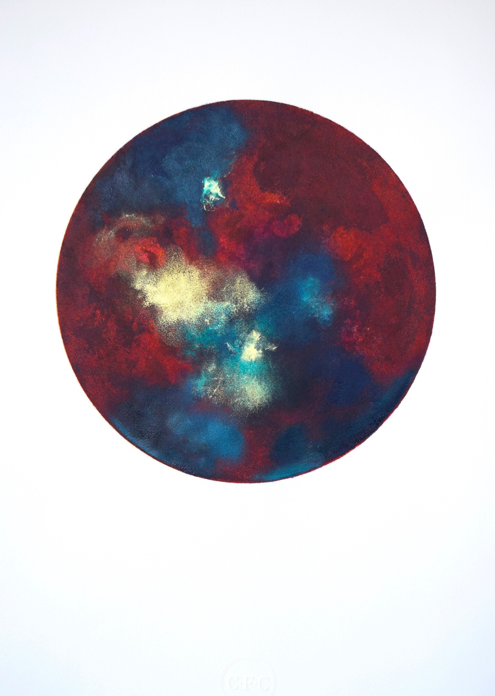 """<span class=""""link fancybox-details-link""""><a href=""""/exhibitions/17/works/image_standalone676/"""">View Detail Page</a></span><p><strong>Christina France</strong></p><p>Terra Lunar</p><p>etching with 23 carat gold dust, ed of 15</p><p>80 x 60cm</p><p>£575 framed</p><p>£420 unframed</p>"""