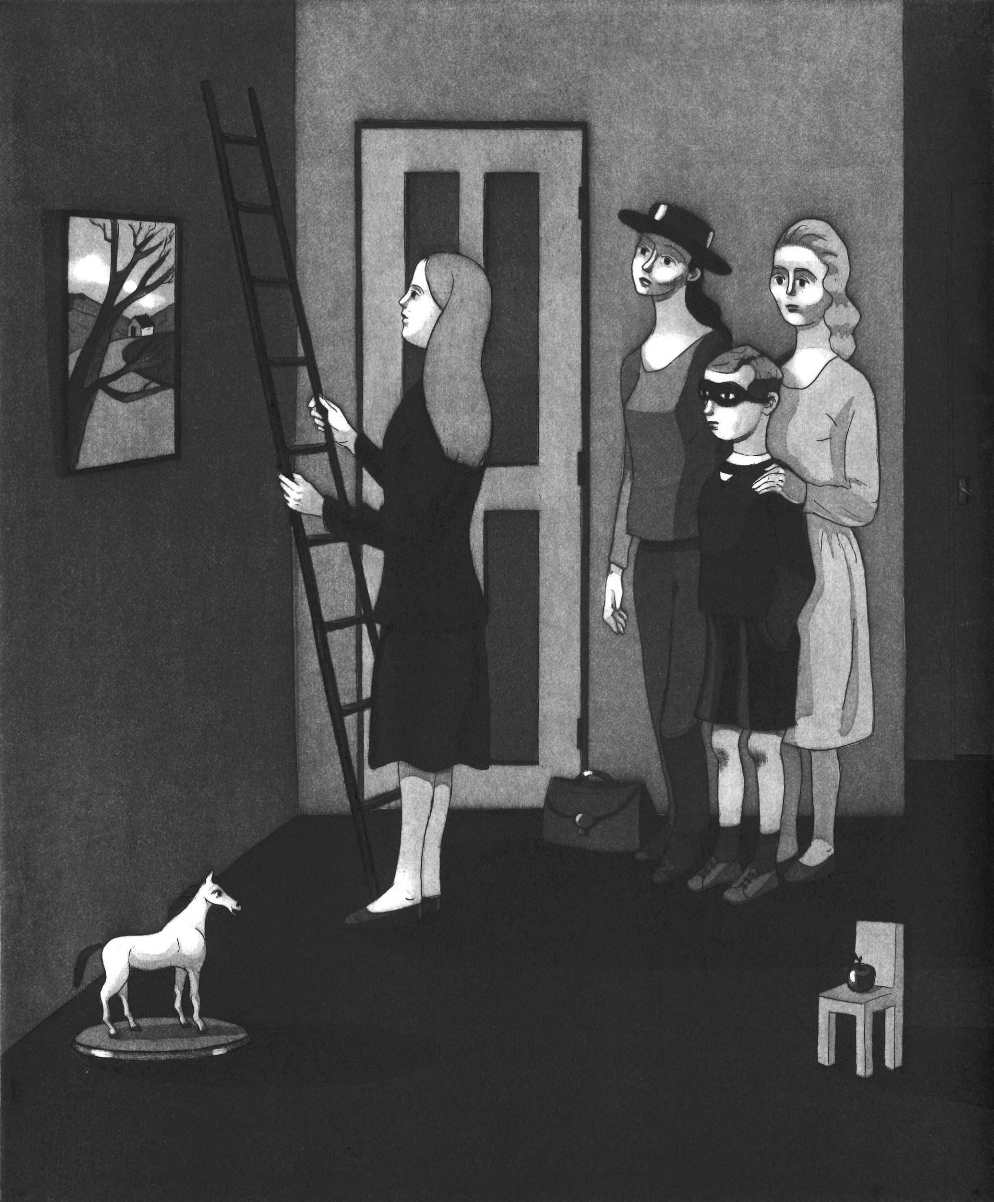 """<span class=""""link fancybox-details-link""""><a href=""""/exhibitions/17/works/image_standalone737/"""">View Detail Page</a></span><p><strong>Sonia Martin</strong></p><p>The Overcoming</p><p>etching and aquatint, ed of 20</p><p>48 x 42cm</p><p>£275 framed</p><p>£225 unframed</p>"""
