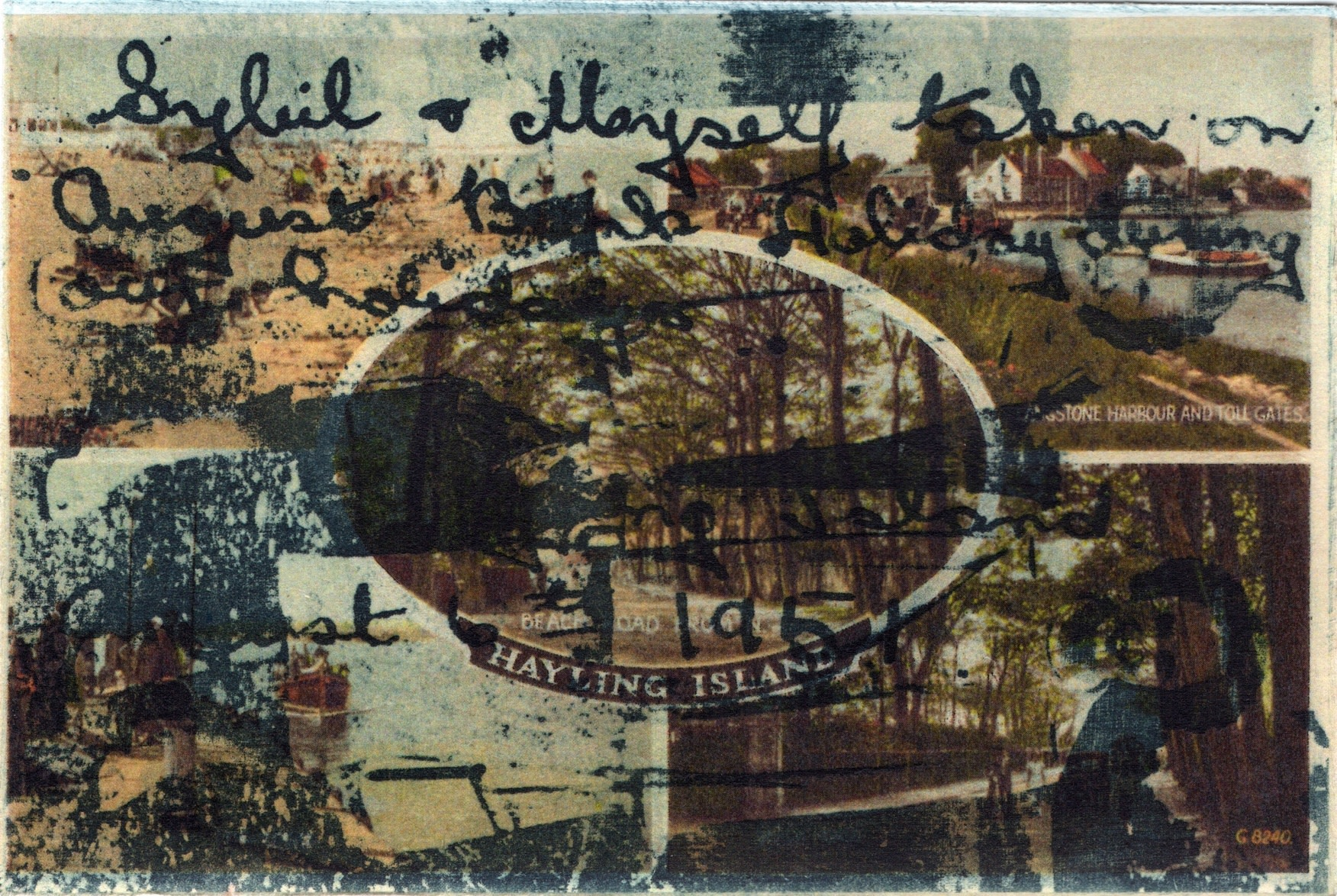 """<span class=""""link fancybox-details-link""""><a href=""""/exhibitions/17/works/image_standalone744/"""">View Detail Page</a></span><p><strong>Jennifer Merrell</strong></p><p>Sybil and Myself - August Bank Holiday</p><p>etching on digital print chine collee, ed of 5</p><p>20 x 25cm</p><p>£300 framed</p><p>£175 unframed</p>"""