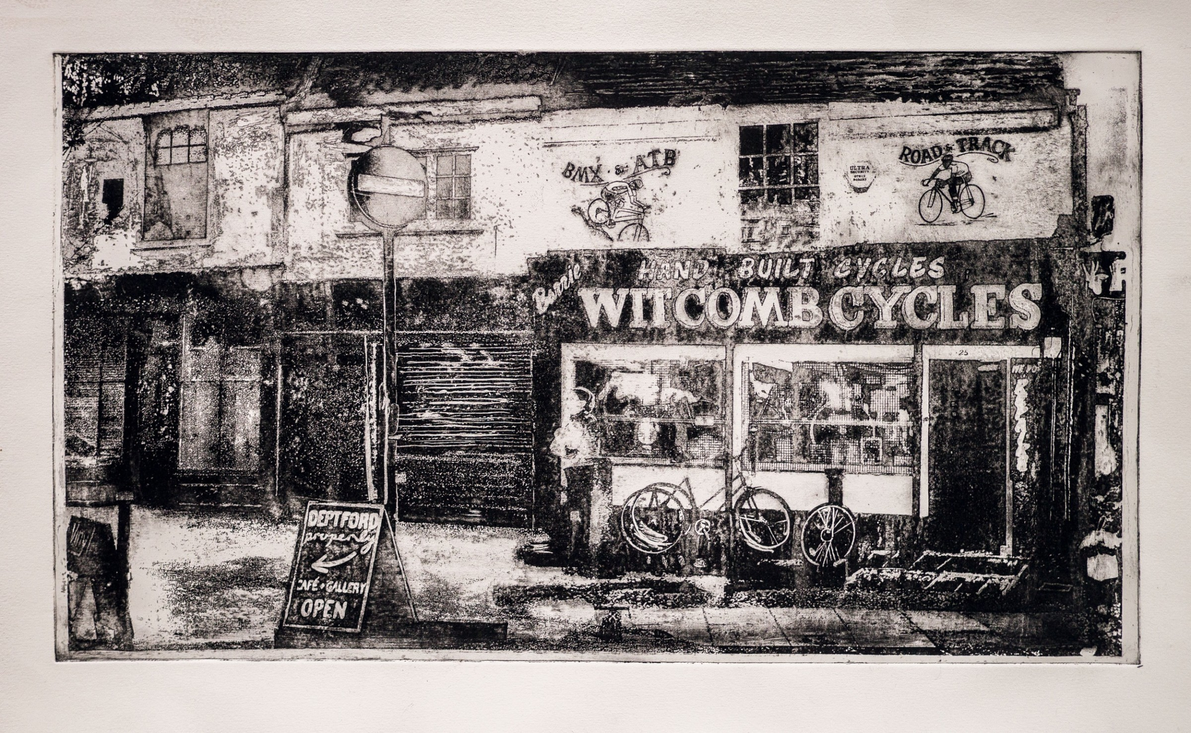 """<span class=""""link fancybox-details-link""""><a href=""""/exhibitions/17/works/image_standalone760/"""">View Detail Page</a></span><p><strong>Rachel Mooney</strong></p><p>Witcomb and Gone</p><p>etching, ed of 20</p><p>66 x 44cm</p><p>£360 framed</p><p>£290 unframed</p>"""