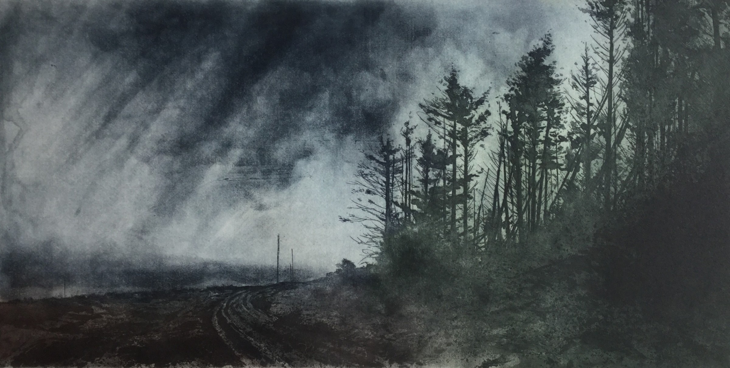 """<span class=""""link fancybox-details-link""""><a href=""""/exhibitions/17/works/image_standalone754/"""">View Detail Page</a></span><p><strong>Gregory Moore</strong></p><p>Approaching Rain</p><p>etching, ed of 20</p><p>72 x 51cm</p><p>£320 framed</p><p>£280 unframed</p>"""