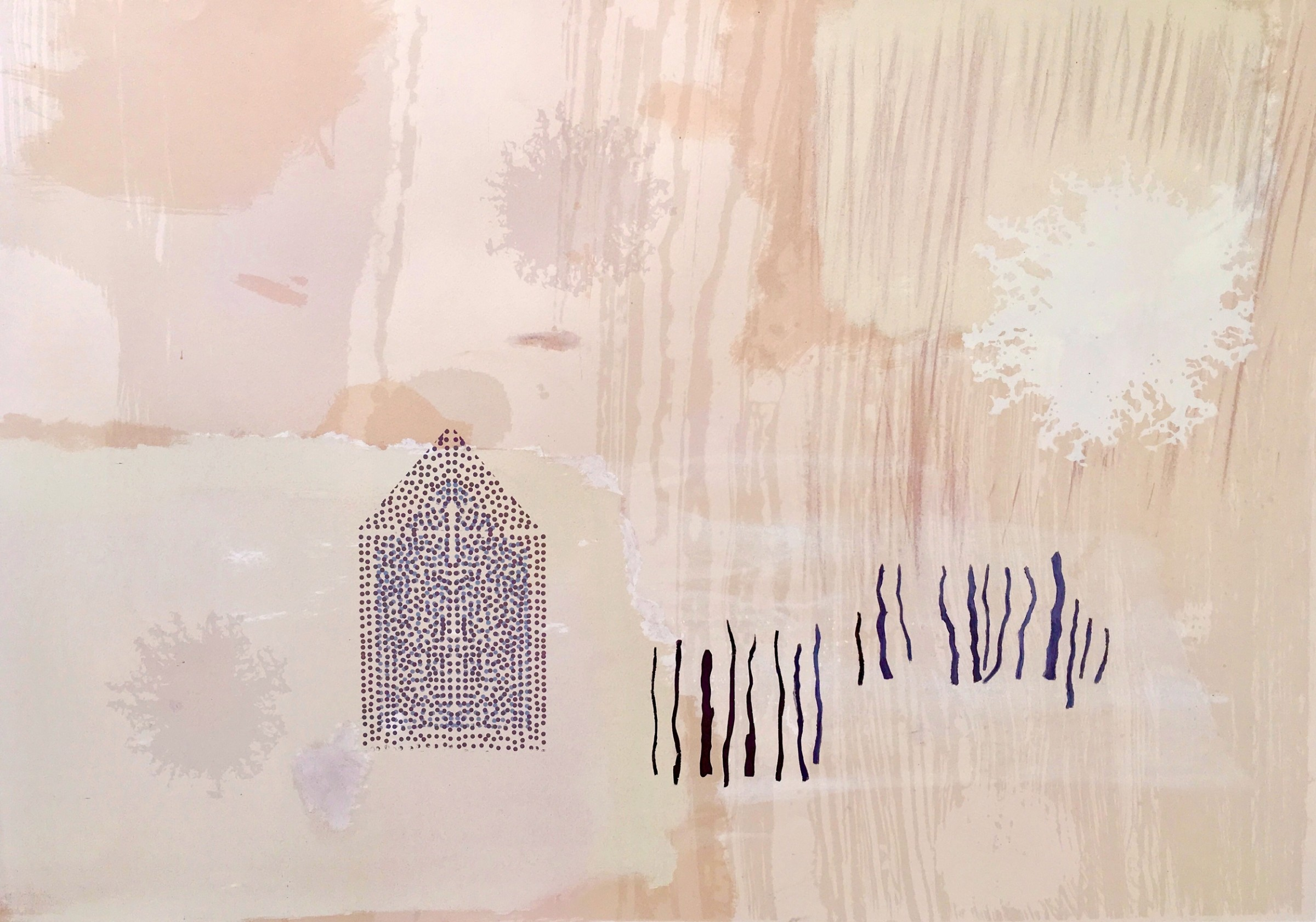 """<span class=""""link fancybox-details-link""""><a href=""""/exhibitions/17/works/image_standalone755/"""">View Detail Page</a></span><p><strong>Jenny Morse</strong></p><p>Pink Murmuration</p><p>screenprint monoprint 1/1</p><p>108 x 81cm</p><p>£850 framed</p>"""