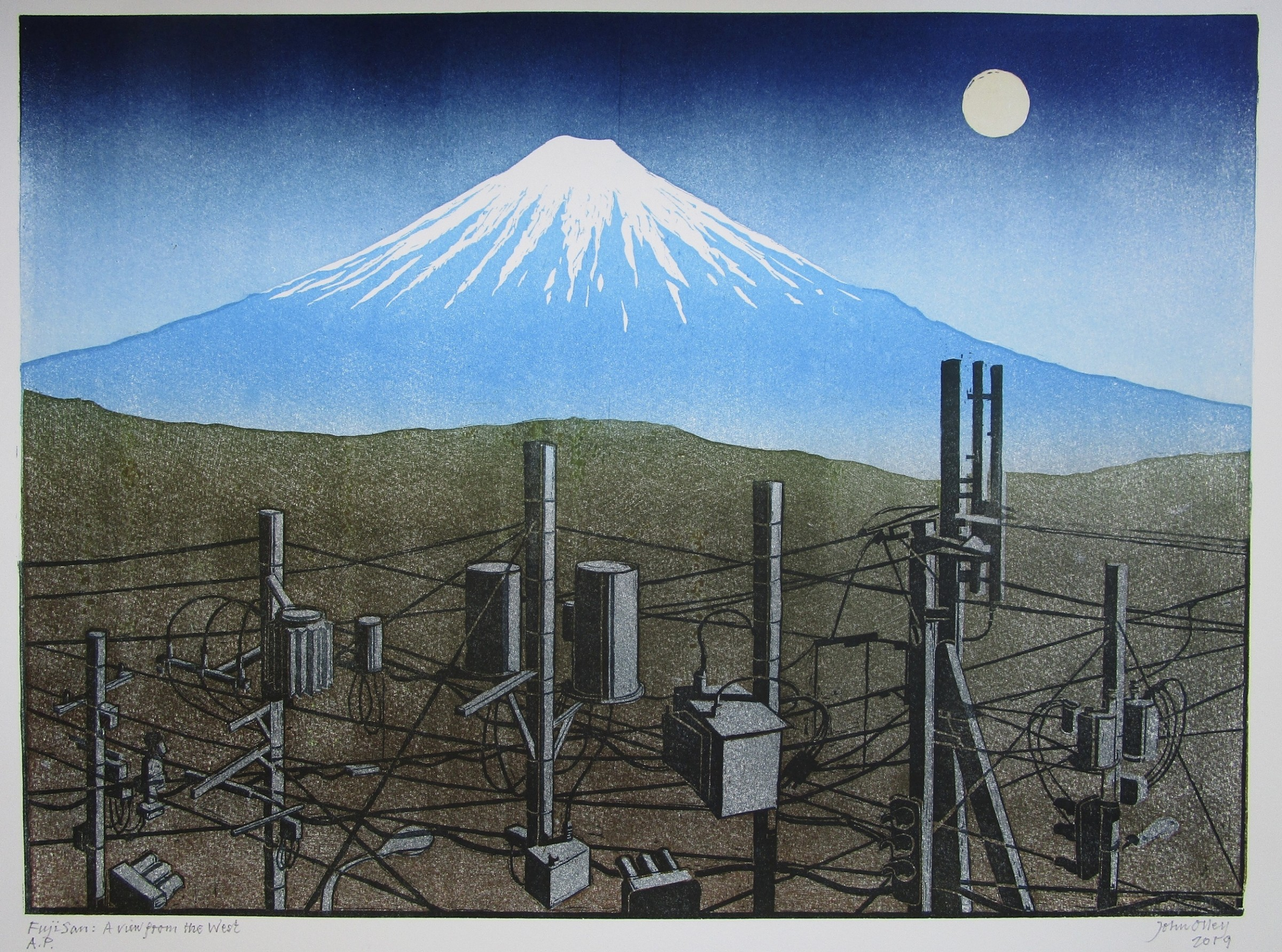 "<span class=""link fancybox-details-link""><a href=""/exhibitions/17/works/image_standalone770/"">View Detail Page</a></span><p><strong>John Olley</strong></p><p>Fuji Sam: A view from The West</p><p>linocut, ed of 25</p><p>61 x 52cm</p><p>£395 framed</p><p>£265 unframed</p>"
