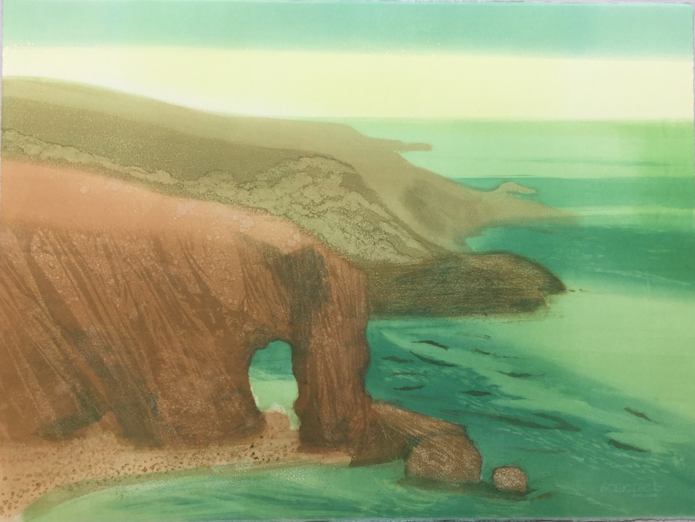 """<span class=""""link fancybox-details-link""""><a href=""""/exhibitions/17/works/image_standalone790/"""">View Detail Page</a></span><p><strong>Anne Russell</strong></p><p>Elephant Rock</p><p>monoprint</p><p>86 x 66cm</p><p>£800 framed</p>"""