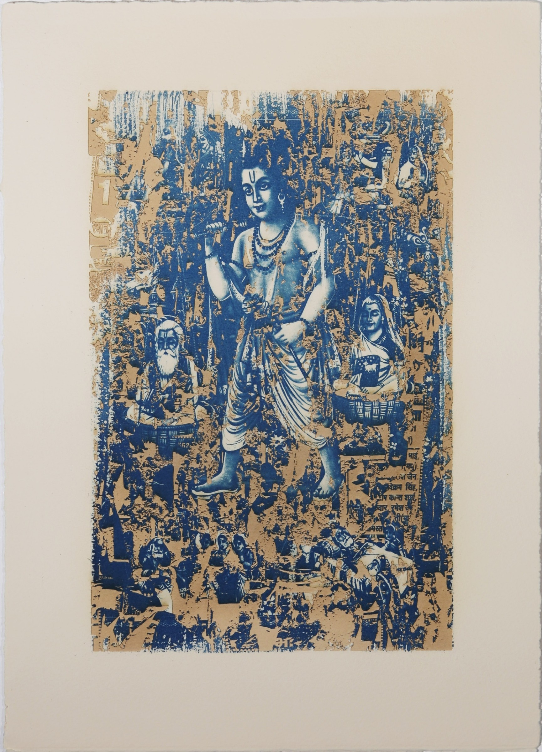 "<span class=""link fancybox-details-link""><a href=""/exhibitions/17/works/image_standalone801/"">View Detail Page</a></span><p><strong>Preeti Sood</strong></p><p>Shrawan Kumar, Indian Calendar Series</p><p>cyanotype with engraving, ed of 10</p><p>30 x 43cm</p><p>£525 framed</p><p>£475 unframed</p>"