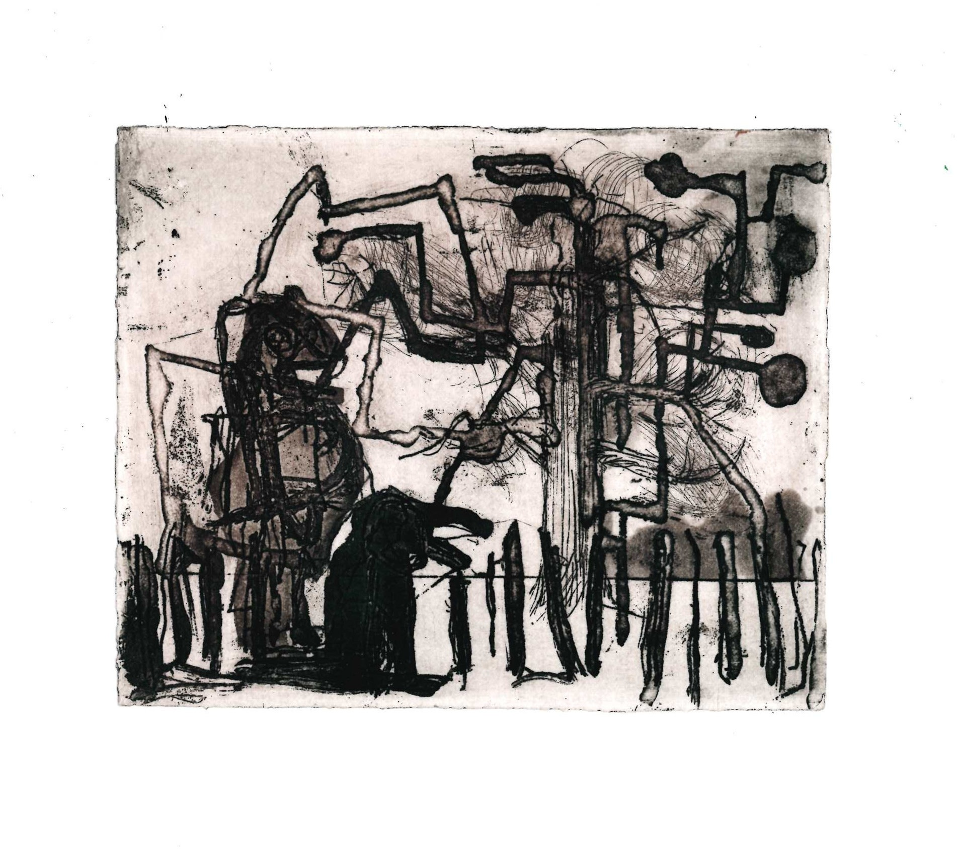 """<span class=""""link fancybox-details-link""""><a href=""""/exhibitions/17/works/image_standalone826/"""">View Detail Page</a></span><p><strong>Emma Wood</strong></p><p>Reflection with Dog</p><p>etching, ed of 20</p><p>24 x 23cm</p><p>£125 framed</p><p>£90 unframed</p>"""