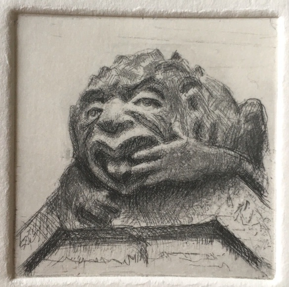 """<span class=""""link fancybox-details-link""""><a href=""""/exhibitions/17/works/image_standalone824/"""">View Detail Page</a></span><p><strong>Robbie Wraith</strong></p><p>Grotesque</p><p>etching, ed of 30</p><p>25 x 23cm</p><p>£120 framed</p><p>£95 unframed</p>"""