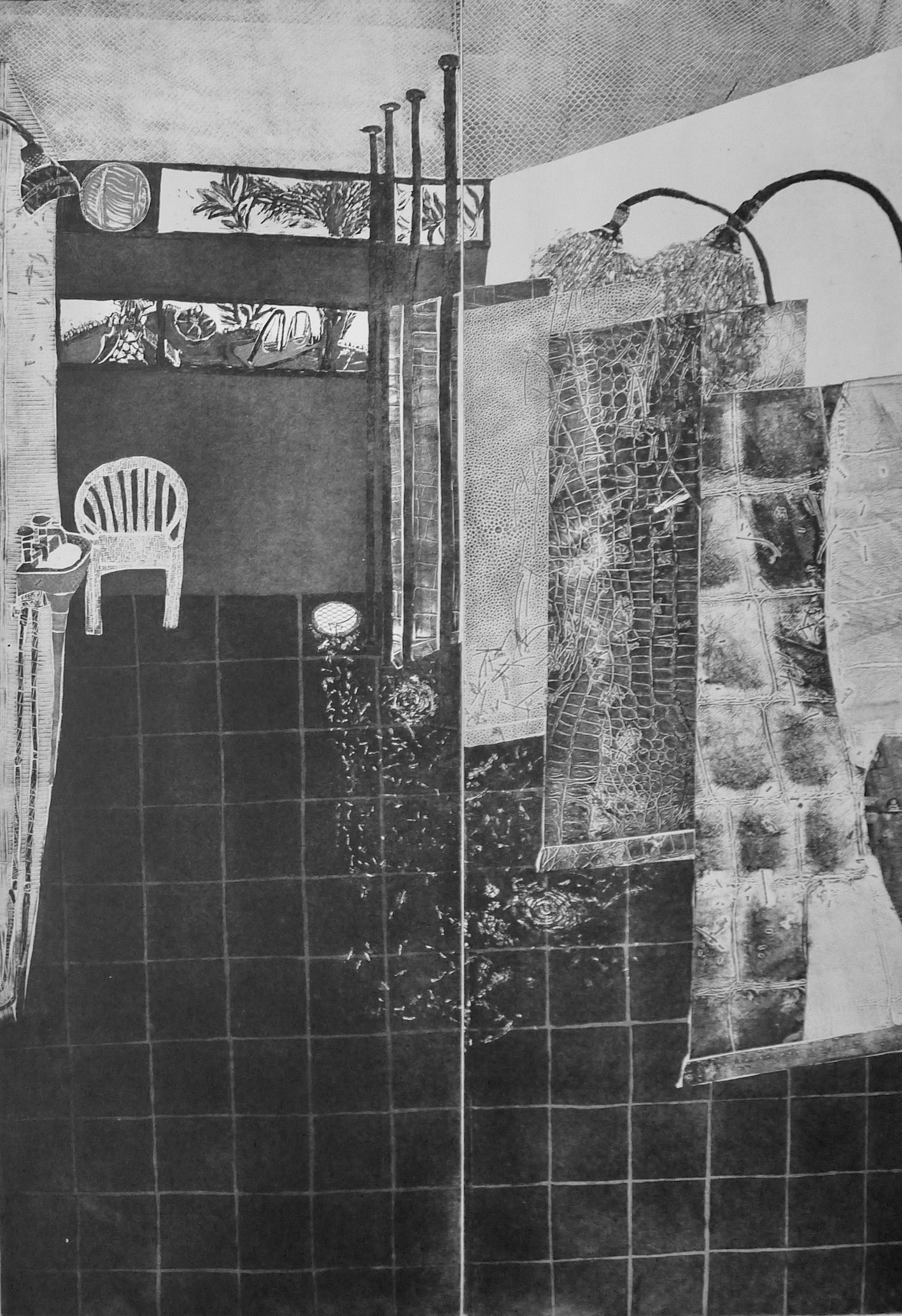 """<span class=""""link fancybox-details-link""""><a href=""""/exhibitions/17/works/image_standalone832/"""">View Detail Page</a></span><p><strong>Fouzia Zafar</strong></p><p>Waterfall, Arlington Baths</p><p>etching, ed of 15</p><p>114 x 82cm</p><p>£890 framed</p><p>£700 unframed</p>"""