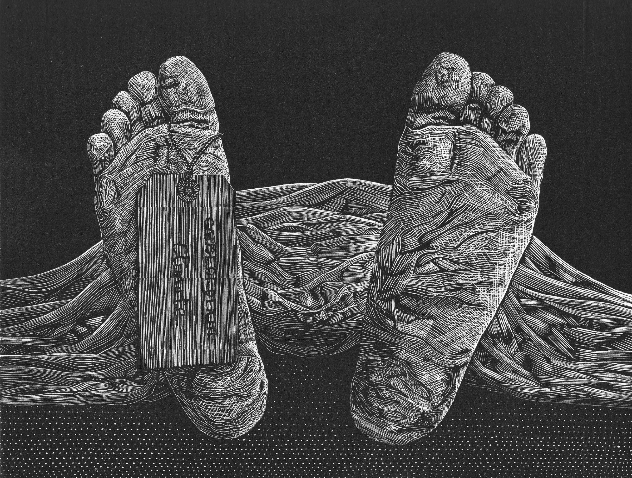 "<span class=""link fancybox-details-link""><a href=""/exhibitions/18/works/image_standalone1044/"">View Detail Page</a></span><p>David Robertson</p><p>Mass Extinction</p><p>wood engraving</p><p>34 x 35cm</p><p>£190 framed</p><p>£140 unframed</p>"