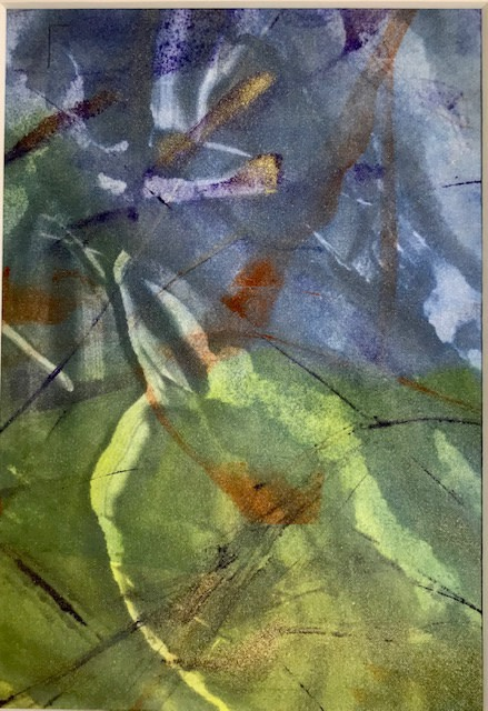 """<span class=""""link fancybox-details-link""""><a href=""""/exhibitions/21/works/artworks_standalone10899/"""">View Detail Page</a></span><div class=""""artist""""><span class=""""artist""""><strong>Jackie Newell RE</strong></span></div><div class=""""title""""><em>Reflections of Spring during Lockdown 2020 no. 3</em></div><div class=""""medium"""">monoprint</div><div class=""""dimensions"""">29 x 23cm framed<br>20 x 14cm unframed</div><div class=""""edition_details"""">1/1</div>"""