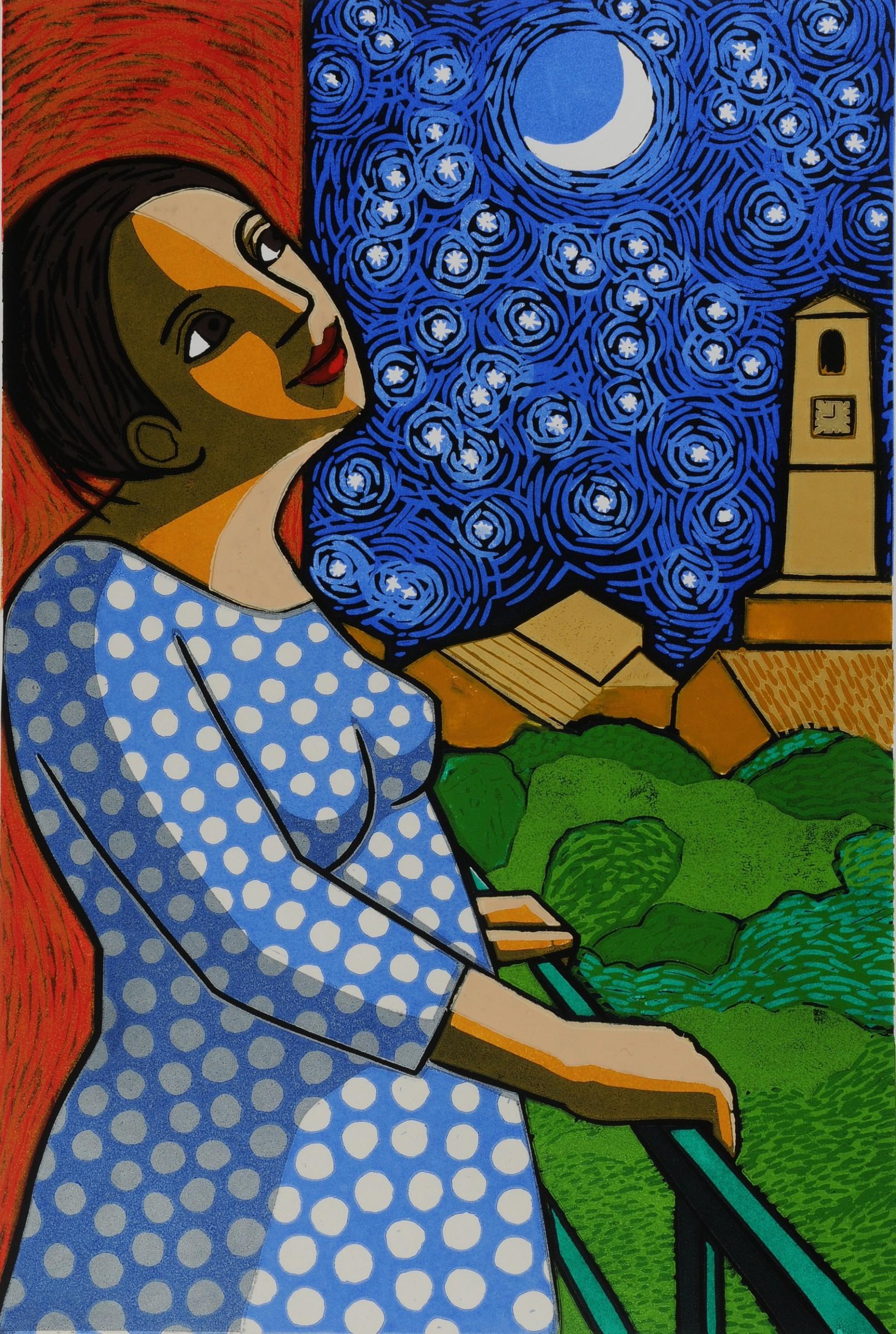 "<span class=""link fancybox-details-link""><a href=""/exhibitions/24/works/artworks_standalone11347/"">View Detail Page</a></span><div class=""artist""><span class=""artist""><strong>Anita Klein PPRE Hon RWS</strong></span></div><div class=""title""><em>Starry Night</em></div><div class=""medium"">linocut</div><div class=""dimensions"">78 x 57 cm framed size<br>60 x 40 cm image size</div><div class=""edition_details"">edition of 50</div>"
