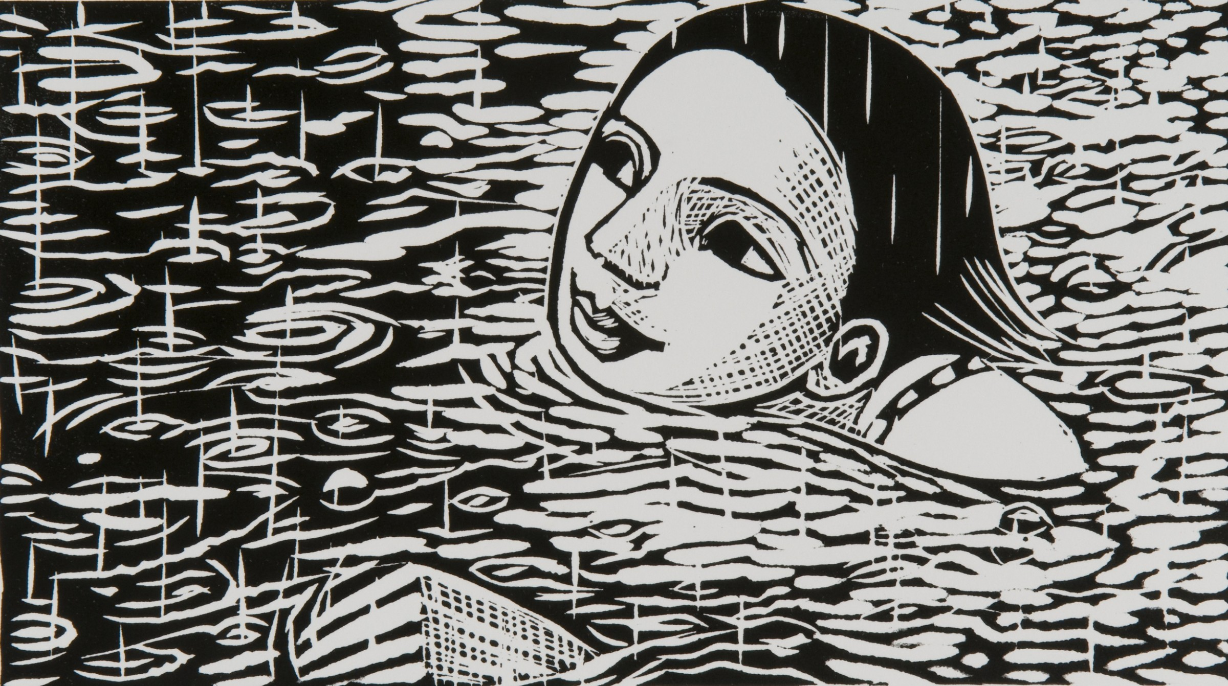 "<span class=""link fancybox-details-link""><a href=""/exhibitions/22/works/artworks_standalone11064/"">View Detail Page</a></span><div class=""artist""><span class=""artist""><strong>Anita Klein PPRE Hon RWS</strong></span></div><div class=""title""><em>Swimming in the Rain</em></div><div class=""medium"">linocut</div><div class=""dimensions"">31 x 41 cm framed size<br>15 x 26 cm image size</div><div class=""edition_details"">edition of 100</div>"