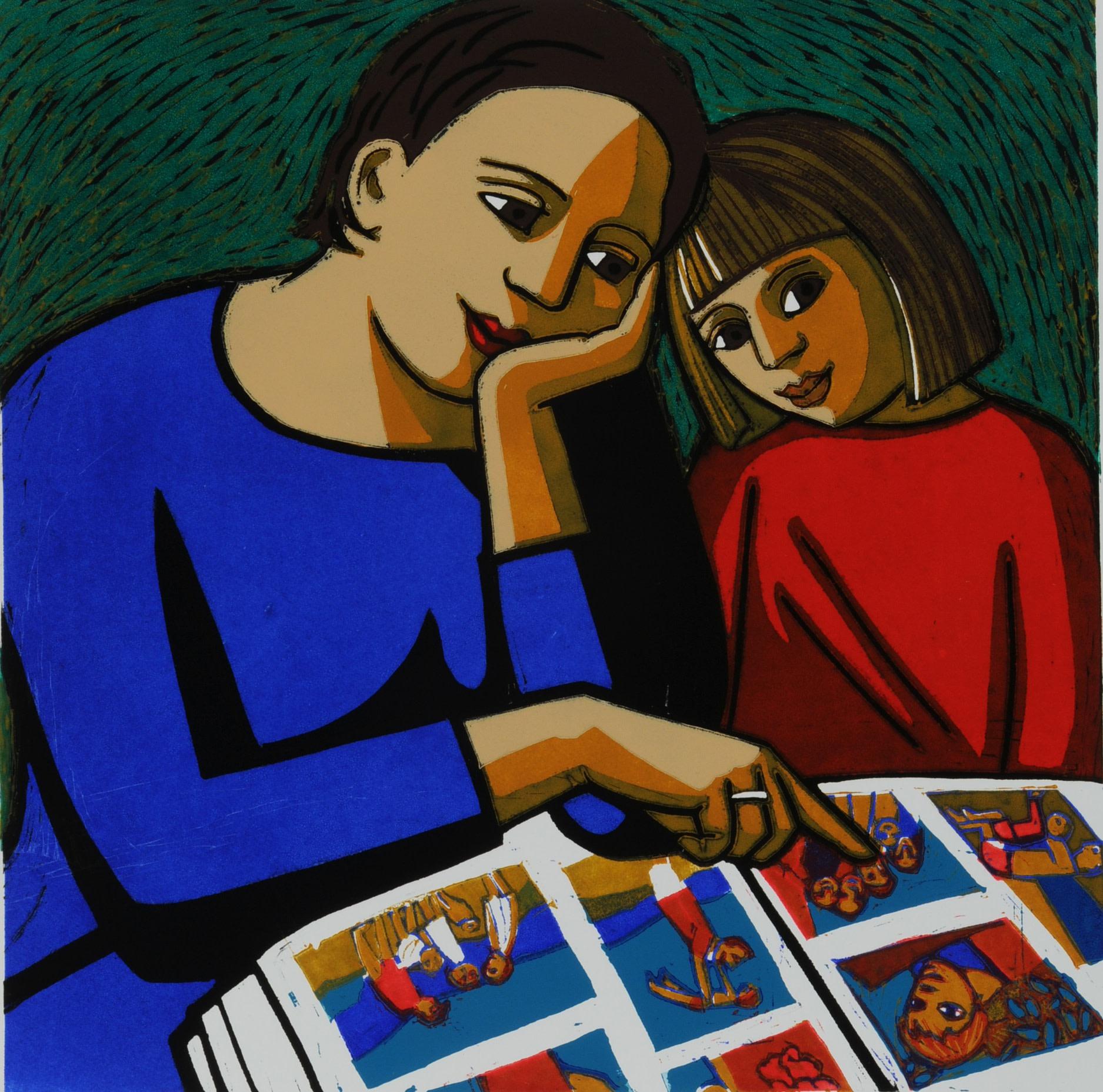 "<span class=""link fancybox-details-link""><a href=""/exhibitions/24/works/artworks_standalone11348/"">View Detail Page</a></span><div class=""artist""><span class=""artist""><strong>Anita Klein PPRE Hon RWS</strong></span></div><div class=""title""><em>The Photo Album</em></div><div class=""medium"">linocut</div><div class=""dimensions"">65 x 63 cm framed size<br>45 x 45 cm image size</div><div class=""edition_details"">edition of 50</div>"