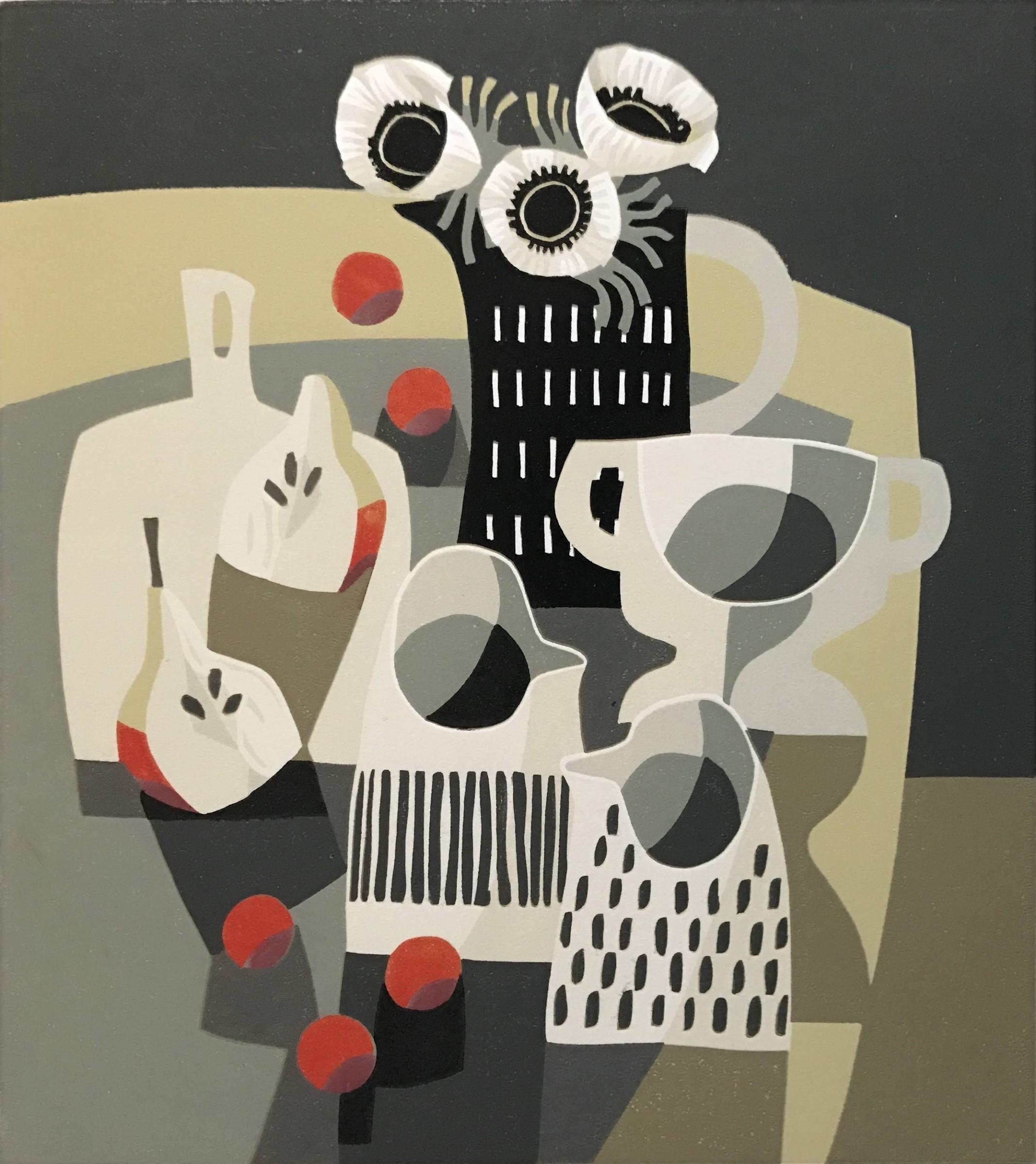 <span class=&#34;link fancybox-details-link&#34;><a href=&#34;/artists/255-jane-walker-are/works/10060/&#34;>View Detail Page</a></span><div class=&#34;artist&#34;><span class=&#34;artist&#34;><strong>Jane Walker ARE</strong></span></div><div class=&#34;title&#34;><em>Monochrome Jugs</em></div><div class=&#34;medium&#34;>reduction linocut</div><div class=&#34;dimensions&#34;>26 x 29cm</div>