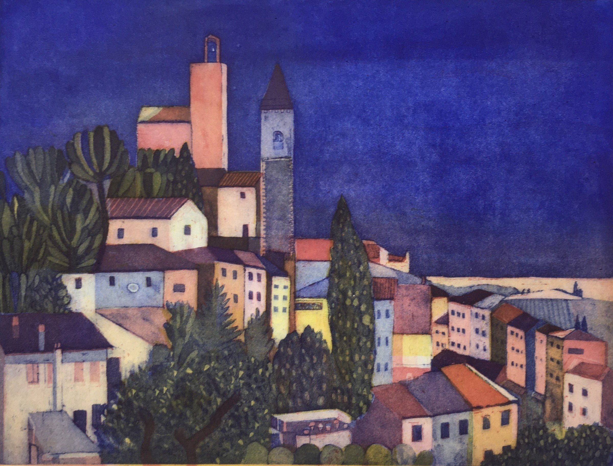 "<span class=""link fancybox-details-link""><a href=""/artists/86-karen-keogh-re/works/11062/"">View Detail Page</a></span><div class=""artist""><span class=""artist""><strong>Karen Keogh RE</strong></span></div><div class=""title""><em>Dopo Pranzo, Toscana</em></div><div class=""medium"">etching</div><div class=""dimensions"">40 x 50 cm framed size<br /> 30 x 40 cm image size</div><div class=""edition_details"">edition of 75</div><div class=""price"">£390.00 framed<br>£290.00 unframed</div>"