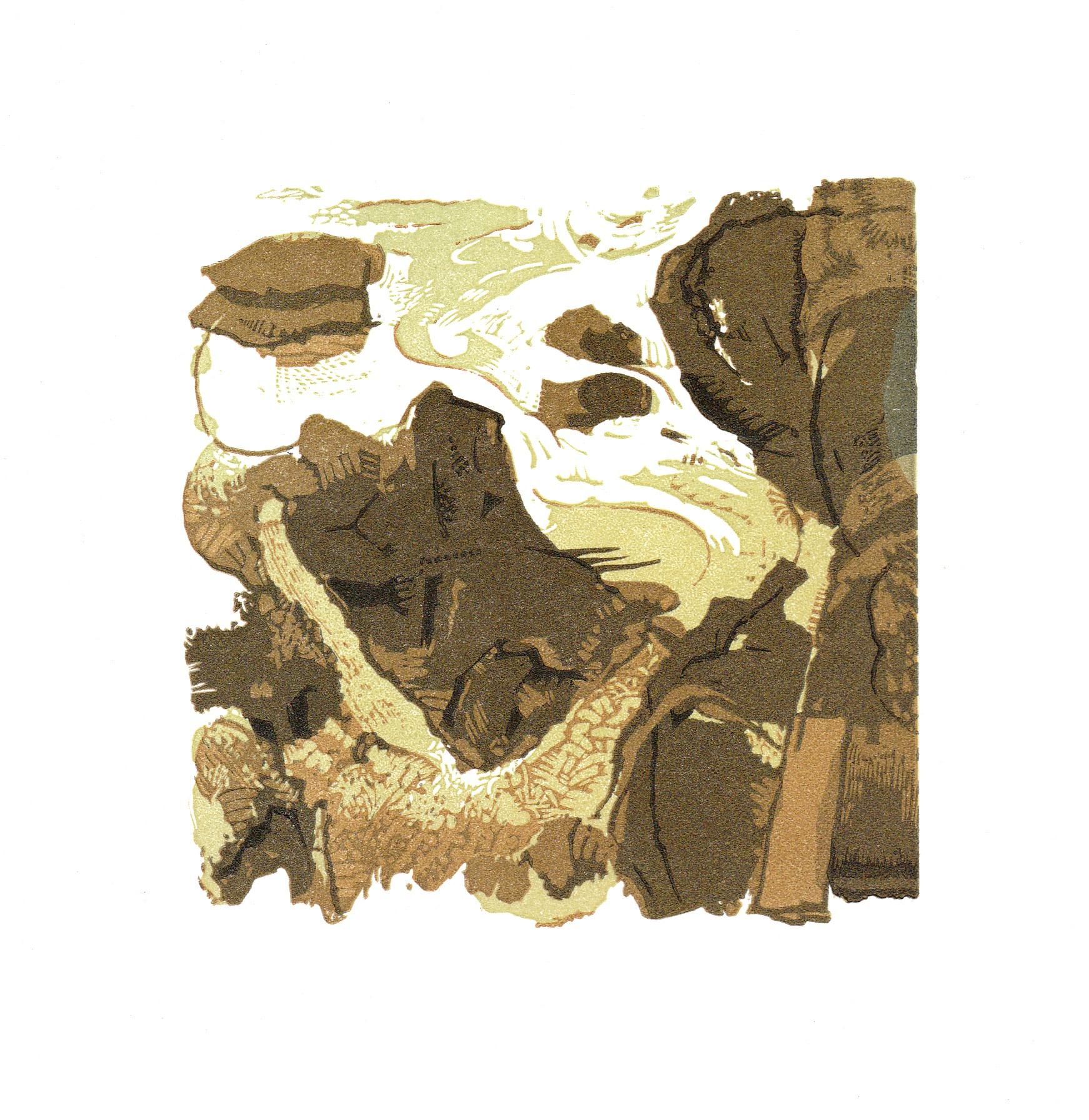 "<span class=""link fancybox-details-link""><a href=""/exhibitions/23/works/artworks_standalone11336/"">View Detail Page</a></span><div class=""artist""><span class=""artist""><strong>Roy Willingham RE</strong></span></div><div class=""title""><em>The Rocks and River - warm version</em></div><div class=""medium"">linocut</div><div class=""dimensions"">30 x 21 cm paper size<br>10 x 10 cm image size</div><div class=""edition_details"">1/1</div>"