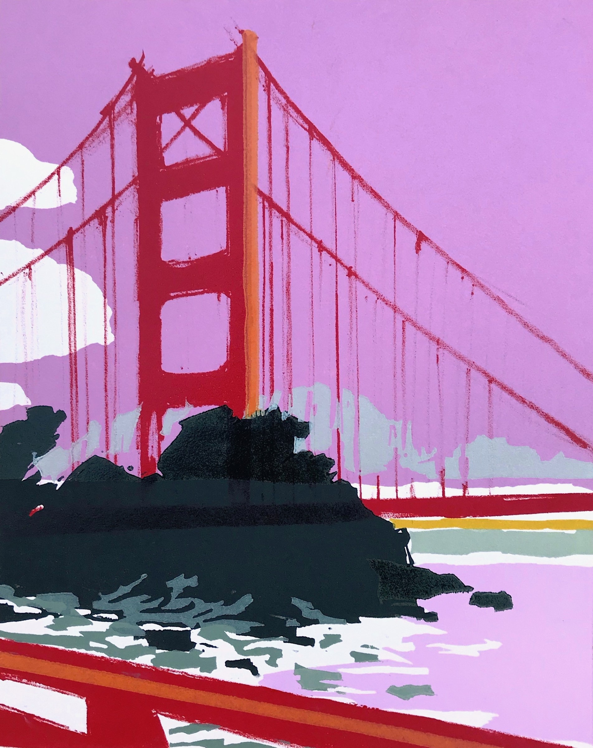 "<span class=""link fancybox-details-link""><a href=""/artists/72-rachel-gracey-re/works/10686/"">View Detail Page</a></span><div class=""artist""><span class=""artist""><strong>Rachel Gracey RE</strong></span></div><div class=""title""><em>Golden Gate, San Francisco</em></div><div class=""medium"">lithograph and relief printing</div><div class=""dimensions"">22.5 x 28 cm image size<br /> </div><div class=""edition_details"">edition of 12</div><div class=""price"">£290.00 unframed</div>"