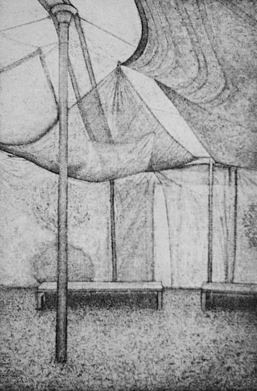 "<span class=""link fancybox-details-link""><a href=""/exhibitions/23/works/artworks_standalone11281/"">View Detail Page</a></span><div class=""artist""><span class=""artist""><strong>David Lintine ARE</strong></span></div><div class=""title""><em>WOMAD - Tiny Tea Tent</em></div><div class=""medium"">aquatint etching</div><div class=""dimensions"">43 x 34 cm paper size<br>26 x 18 cm image size</div><div class=""edition_details"">edition of 25</div>"
