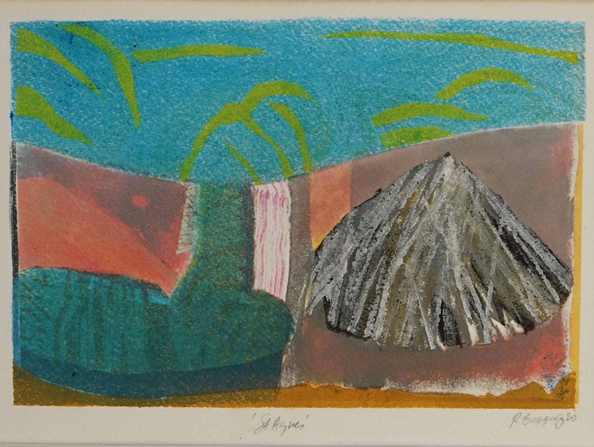 "<span class=""link fancybox-details-link""><a href=""/exhibitions/21/works/artworks_standalone11019/"">View Detail Page</a></span><div class=""artist""><span class=""artist""><strong>Robert Baggaley RE</strong></span></div><div class=""title""><em>St Agnes 2</em></div><div class=""medium"">monoprint</div><div class=""dimensions"">32 x 38 cm framed<br>12 x 18 cm image size</div><div class=""edition_details"">unique</div>"