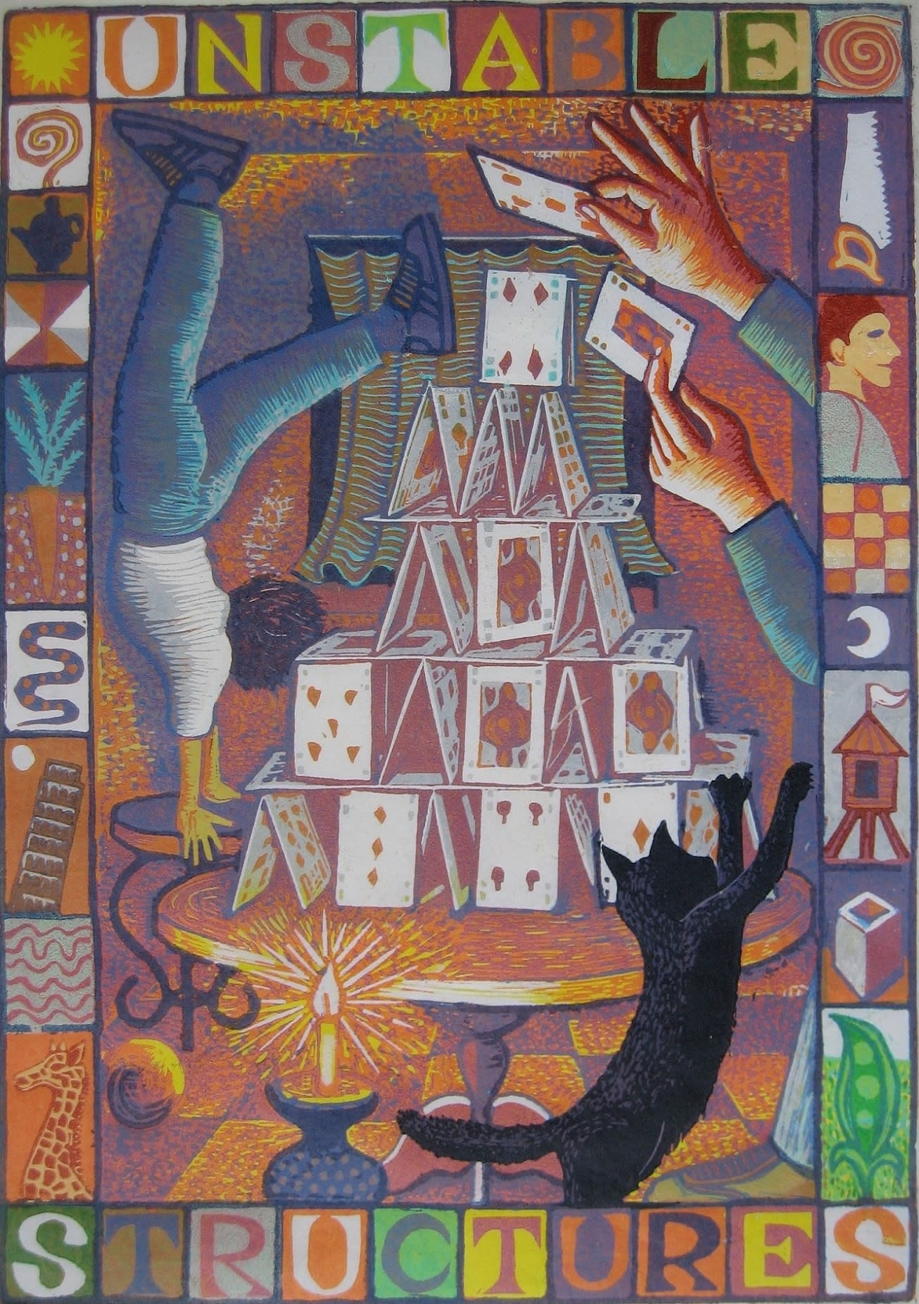 "<span class=""link fancybox-details-link""><a href=""/artists/30-jim-anderson-re/works/10416/"">View Detail Page</a></span><div class=""artist""><span class=""artist""><strong>Jim Anderson RE</strong></span></div><div class=""title""><em>Children's Games VII (Unstable Structures)</em></div><div class=""medium"">linocut</div><div class=""dimensions"">Frame: 45 x 33 cm<br /> Artwork: 29 x 21 cm<br /> </div><div class=""price"">£200.00</div>"