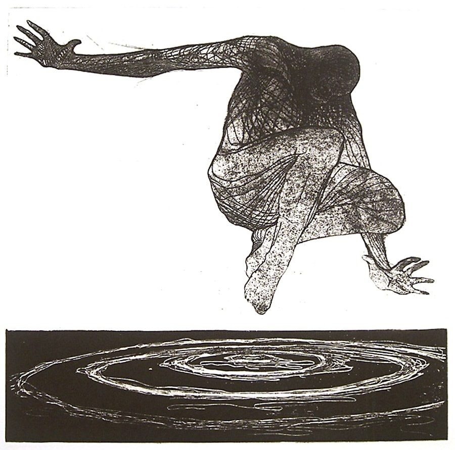 "<span class=""link fancybox-details-link""><a href=""/exhibitions/20/works/artworks_standalone10815/"">View Detail Page</a></span><div class=""artist""><span class=""artist""><strong>Veta Gorner RE</strong></span></div><div class=""title""><em>Dark Waters</em></div><div class=""medium"">etching<br></div><div class=""dimensions"">25 x 25 cm image size<br></div><div class=""edition_details"">edition of 50</div>"