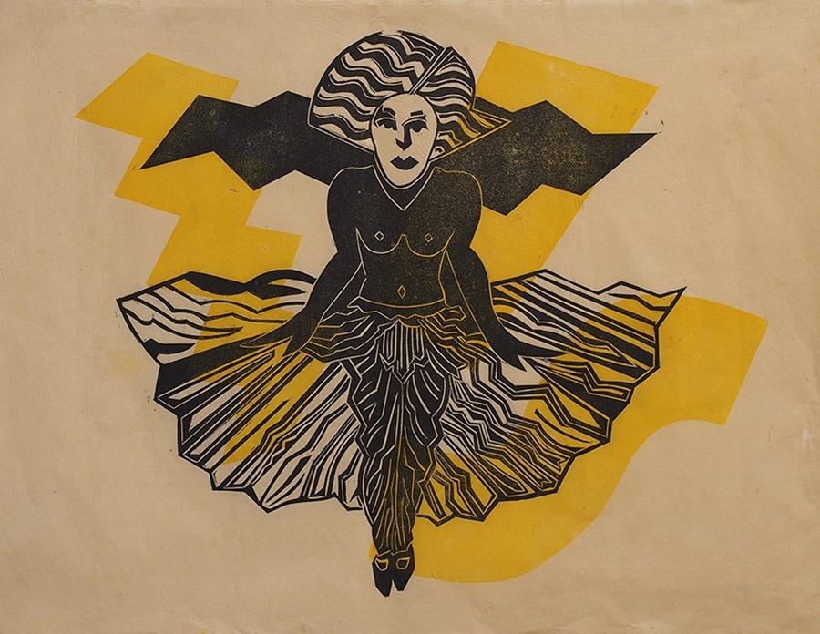 """<span class=""""link fancybox-details-link""""><a href=""""/exhibitions/20/works/artworks_standalone10843/"""">View Detail Page</a></span><div class=""""artist""""><span class=""""artist""""><strong>Simon Redington RE</strong></span></div><div class=""""title""""><em>Show Girl</em></div><div class=""""medium"""">woodcut</div><div class=""""dimensions"""">70 x 100 cm image size<br></div><div class=""""edition_details"""">AP</div>"""