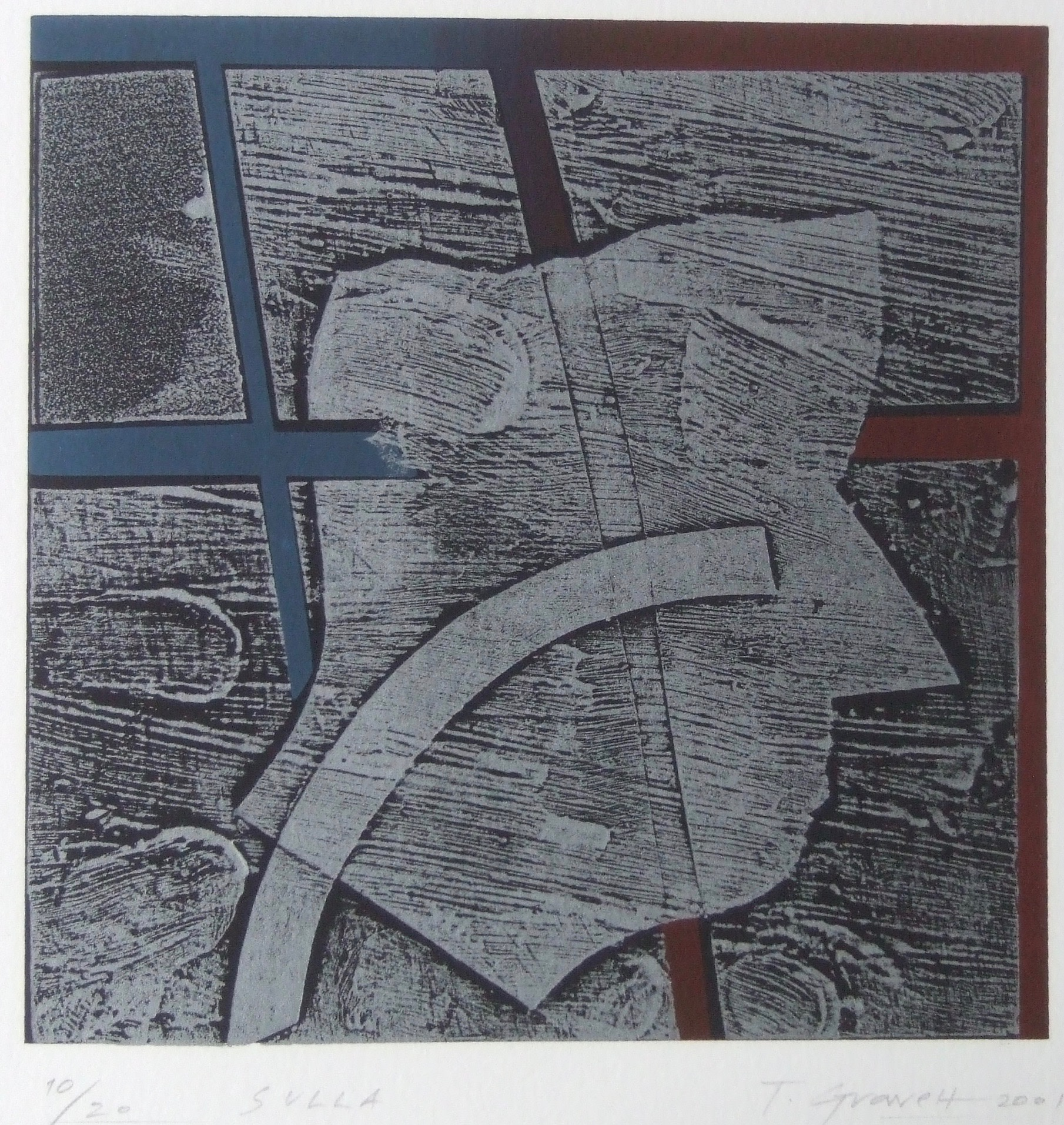 "<span class=""link fancybox-details-link""><a href=""/exhibitions/23/works/artworks_standalone11227/"">View Detail Page</a></span><div class=""artist""><span class=""artist""><strong>Terence Gravett ARE</strong></span></div><div class=""title""><em>Sulla</em></div><div class=""medium"">wood block print with gesso</div><div class=""dimensions"">26 x 26cm paper size<br>14 x 14cm image size</div><div class=""edition_details"">edition of 20</div>"