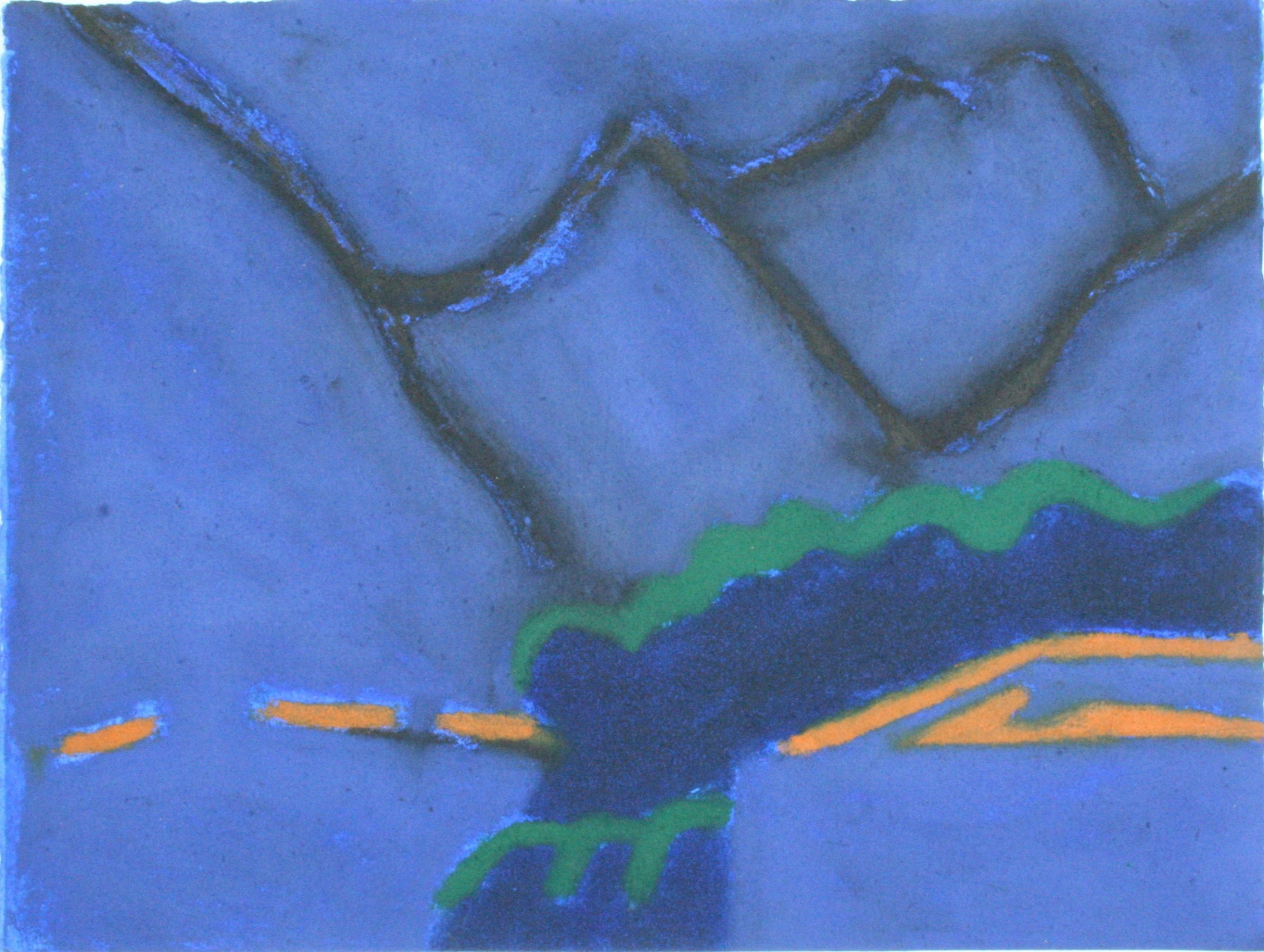 "<span class=""link fancybox-details-link""><a href=""/exhibitions/24/works/artworks_standalone11443/"">View Detail Page</a></span><div class=""artist""><span class=""artist""><strong>Ursula Leach RE</strong></span></div><div class=""title""><em>Night Mountains</em></div><div class=""medium"">carborundum and hand colouring</div><div class=""dimensions"">39 x 49 cm framed<br>31 x 41 cm image size</div><div class=""edition_details"">edition of 7</div>"