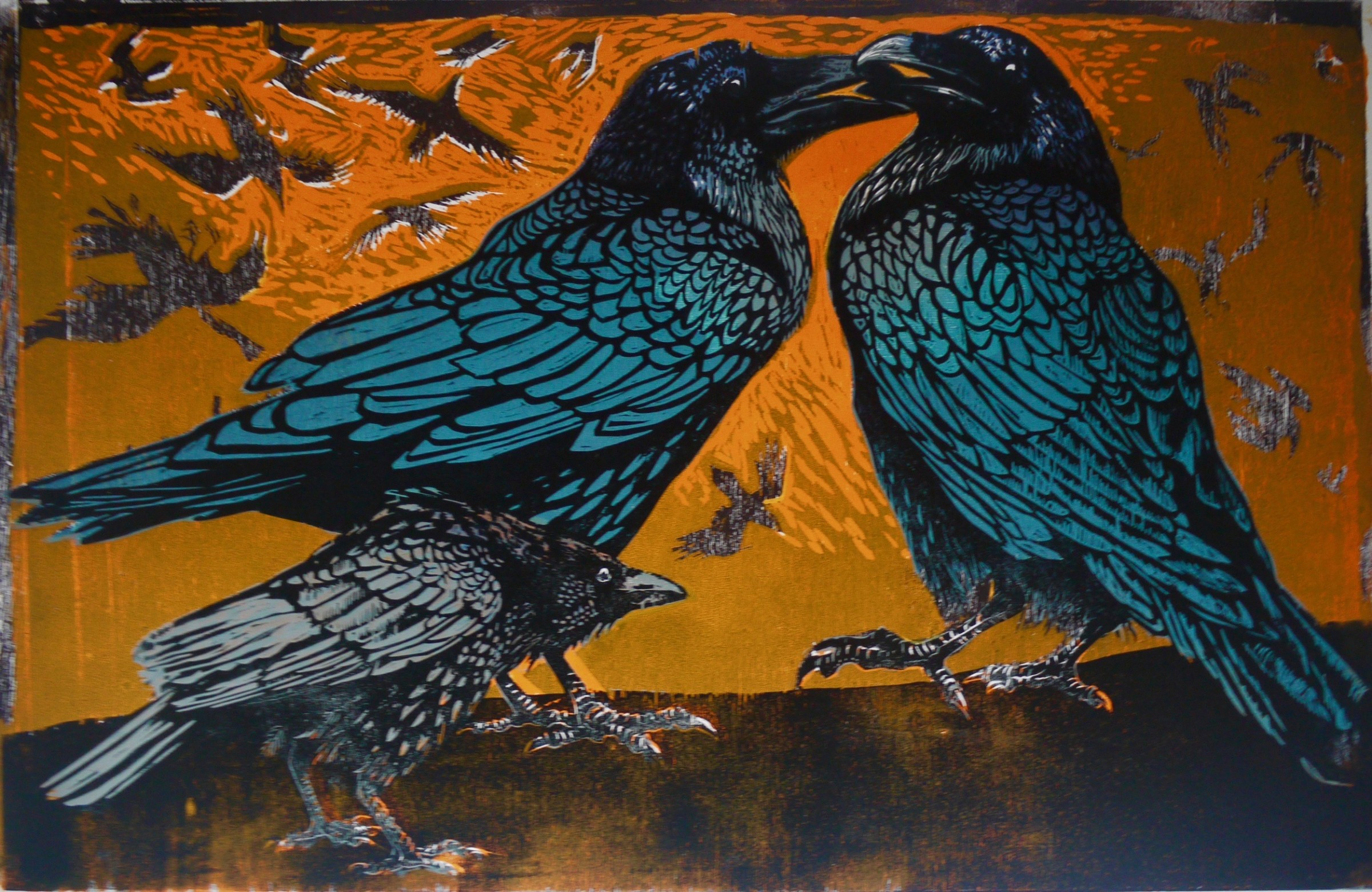 "<span class=""link fancybox-details-link""><a href=""/exhibitions/20/works/artworks_standalone10774/"">View Detail Page</a></span><div class=""artist""><span class=""artist""><strong>Julia Manning RE</strong></span></div><div class=""title""><em>Crow Disturbs The Ravens 3</em></div><div class=""medium"">wood cuts<br></div><div class=""dimensions"">60 x 90 cm image size</div><div class=""edition_details"">edition of 20</div>"