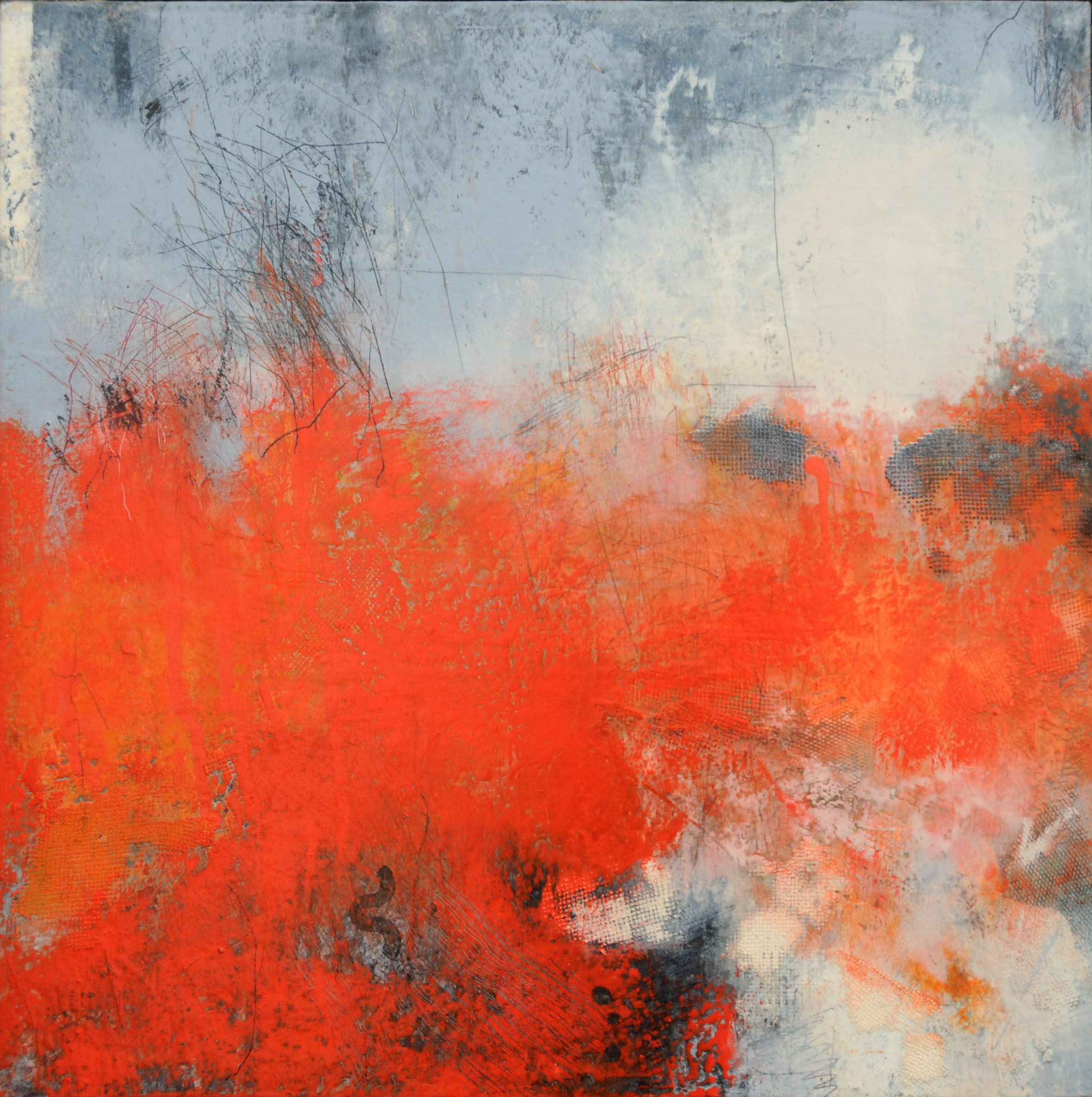 """<span class=""""link fancybox-details-link""""><a href=""""/exhibitions/23/works/artworks_standalone11328/"""">View Detail Page</a></span><div class=""""artist""""><span class=""""artist""""><strong>Bren Unwin PPRE Hon RWS</strong></span></div><div class=""""title""""><em>Field of Intent</em></div><div class=""""medium"""">monotype / oil and mixed media on paper</div><div class=""""dimensions"""">40 x 40 cm </div><div class=""""edition_details"""">1/1</div>"""
