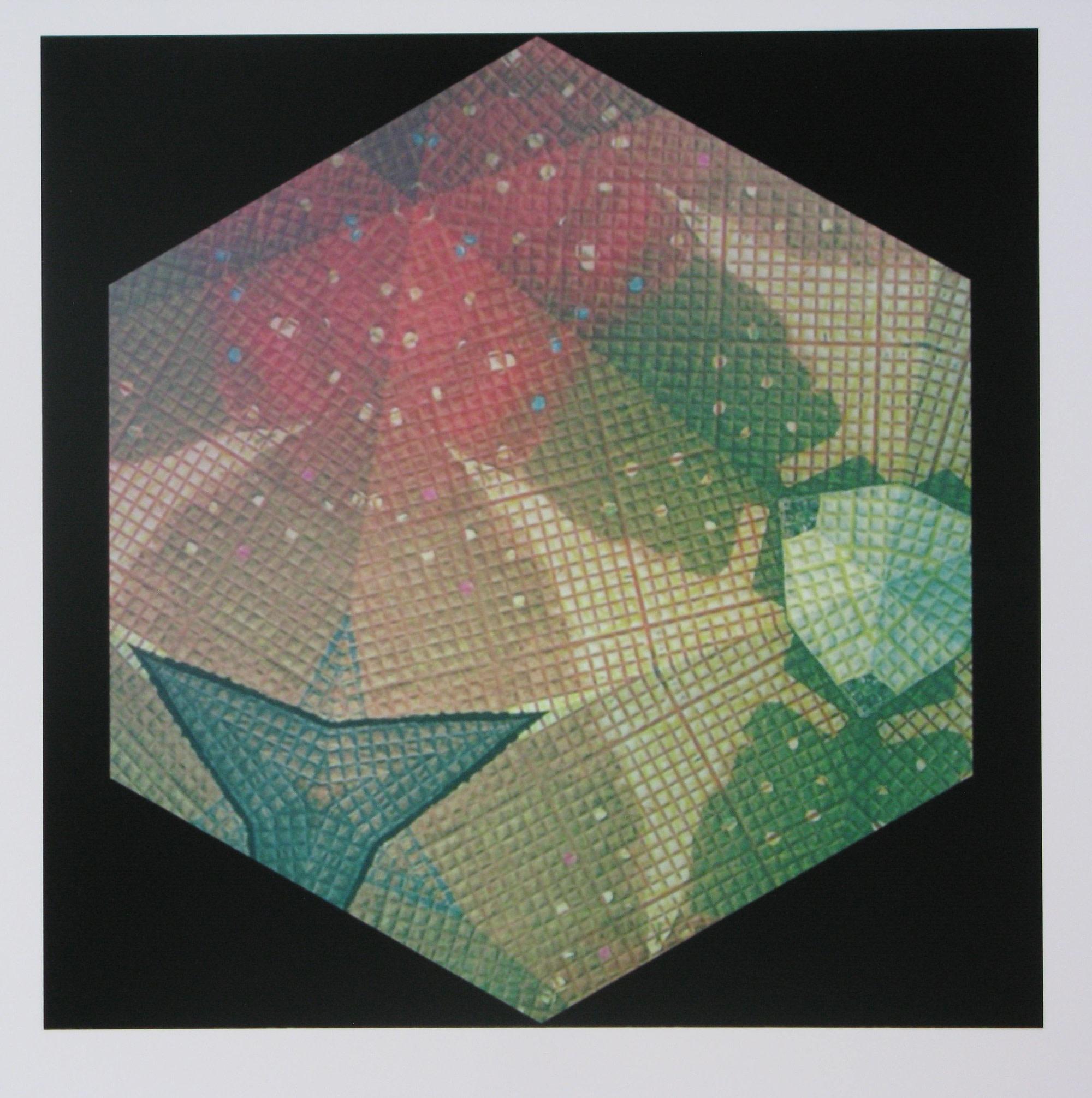 "<span class=""link fancybox-details-link""><a href=""/artists/68-peter-ford-re/works/11216/"">View Detail Page</a></span><div class=""artist""><span class=""artist""><strong>Peter Ford RE</strong></span></div><div class=""title""><em>Hexagon 2</em></div><div class=""medium"">archival digital print</div><div class=""dimensions"">32 x 32cm paper size<br /> 20 x 20cm image size</div><div class=""edition_details"">edition of 60</div><div class=""price"">£100.00 unframed</div>"