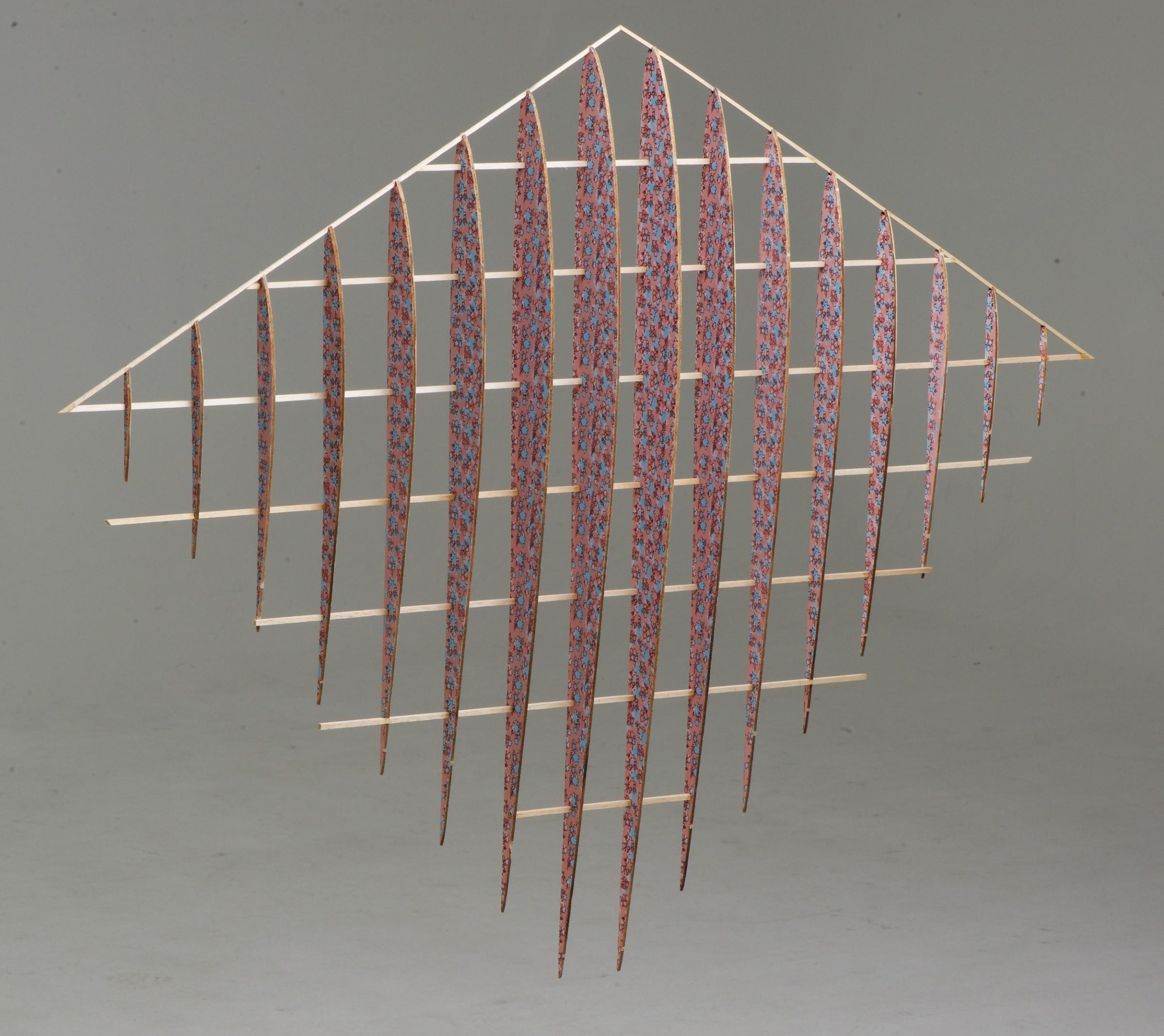 """<span class=""""link fancybox-details-link""""><a href=""""/exhibitions/20/works/artworks_standalone10738/"""">View Detail Page</a></span><div class=""""artist""""><span class=""""artist""""><strong>Stephen Hoskins RE</strong></span></div><div class=""""title""""><em>Belgian Wings</em></div><div class=""""medium"""">screenprint on laser cut balsa wood</div><div class=""""dimensions"""">90 x 110 cm<br></div><div class=""""edition_details"""">unique</div>"""
