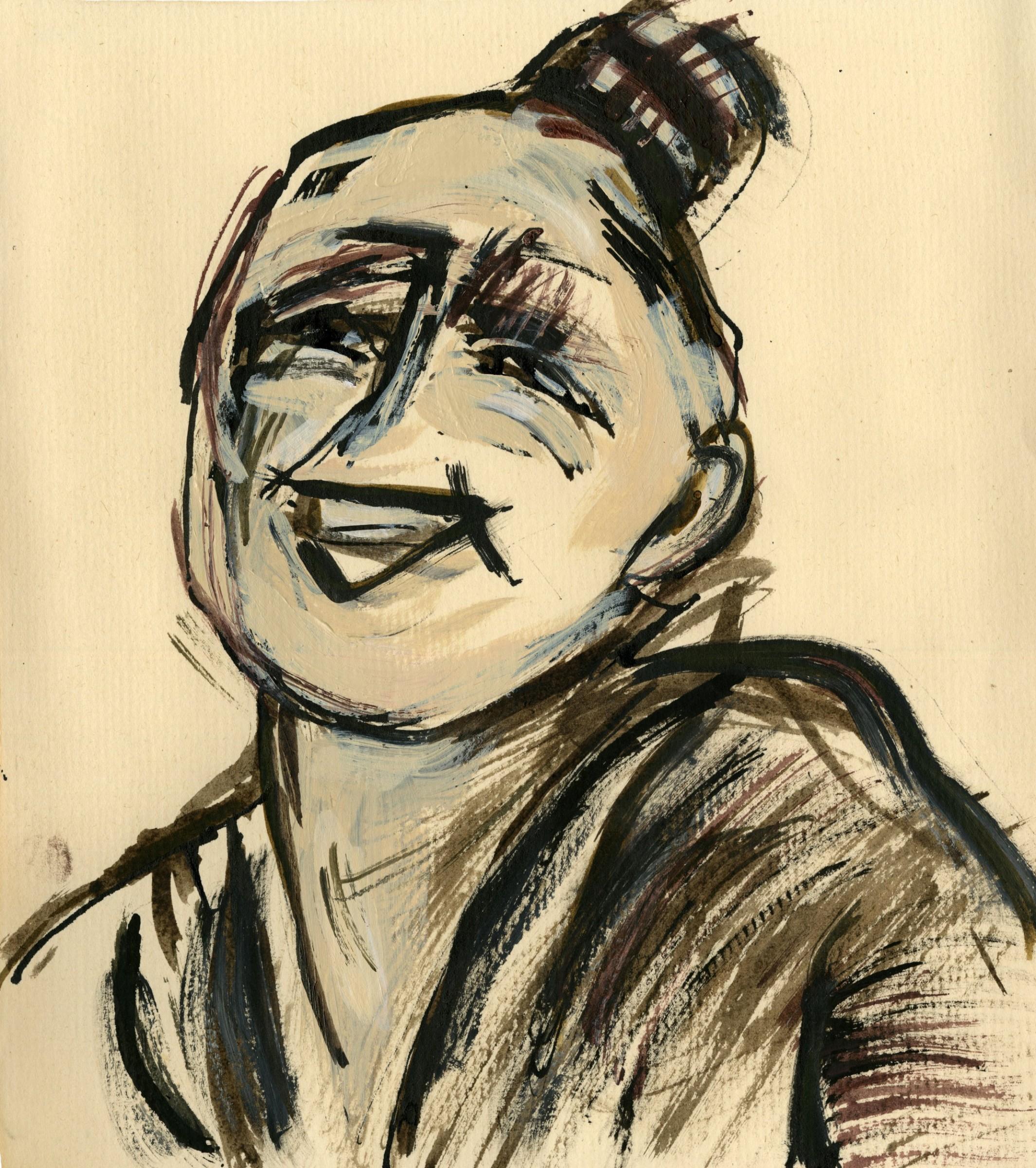 "<span class=""link fancybox-details-link""><a href=""/exhibitions/22/works/artworks_standalone11109/"">View Detail Page</a></span><div class=""artist""><span class=""artist""><strong>Julia Midgley RWS RE</strong></span></div><div class=""title""><em>Happy Campaigner</em></div><div class=""medium"">acrylic & ink</div><div class=""dimensions"">37 x 35 cm framed<br>25 x 22 cm image size</div>"