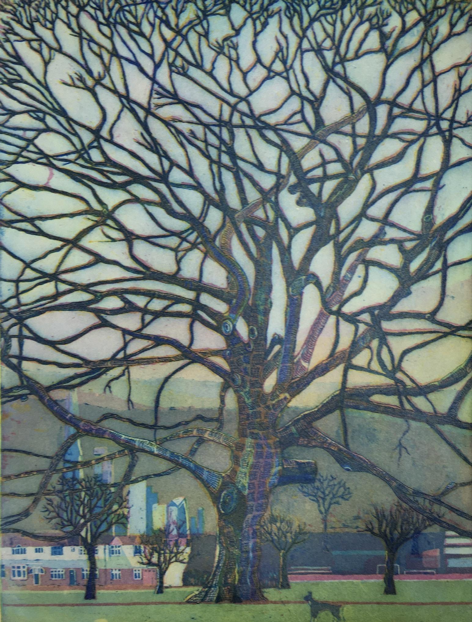 "<span class=""link fancybox-details-link""><a href=""/artists/86-karen-keogh-re/works/11061/"">View Detail Page</a></span><div class=""artist""><span class=""artist""><strong>Karen Keogh RE</strong></span></div><div class=""title""><em>The Old Oak Tree, Ruskin Park</em></div><div class=""medium"">etching</div><div class=""dimensions"">50 x 40 cm framed size<br /> 40 x 30 cm image size</div><div class=""edition_details"">edition of 75</div><div class=""price"">£390.00 framed<br>£290.00 unframed</div>"