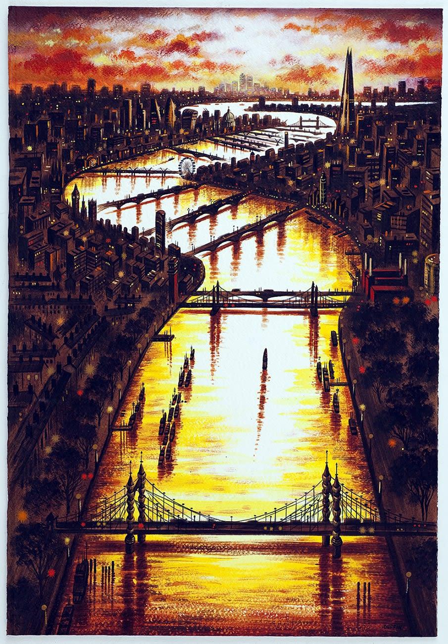"""<span class=""""link fancybox-details-link""""><a href=""""/exhibitions/22/works/artworks_standalone11083/"""">View Detail Page</a></span><div class=""""artist""""><span class=""""artist""""><strong>John Duffin RE</strong></span></div><div class=""""title""""><em>Thames Bridges East</em></div><div class=""""medium"""">watercolour</div><div class=""""dimensions"""">70 x 50 cm framed <br>56 x 38 cm image size</div>"""