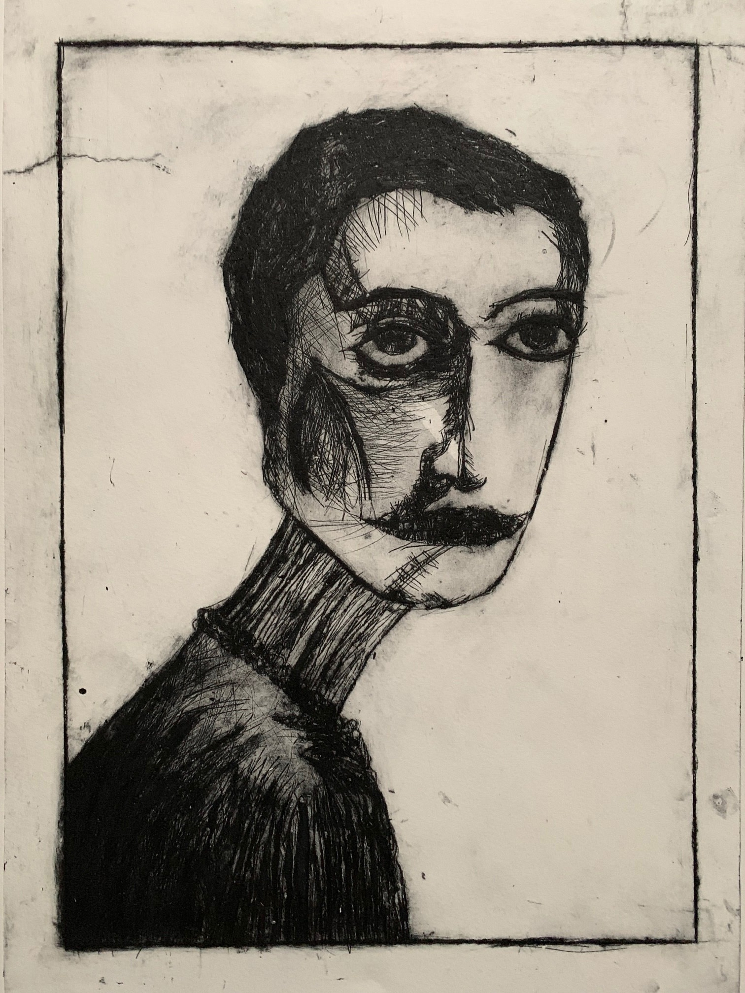 """<span class=""""link fancybox-details-link""""><a href=""""/exhibitions/17/works/image_standalone739/"""">View Detail Page</a></span><p><strong>Derek Mawudoku</strong></p><p>Before</p><p>drypoint, ed of 15</p><p>87 x 88cm</p><p>£440 framed</p><p>£420 unframed</p>"""