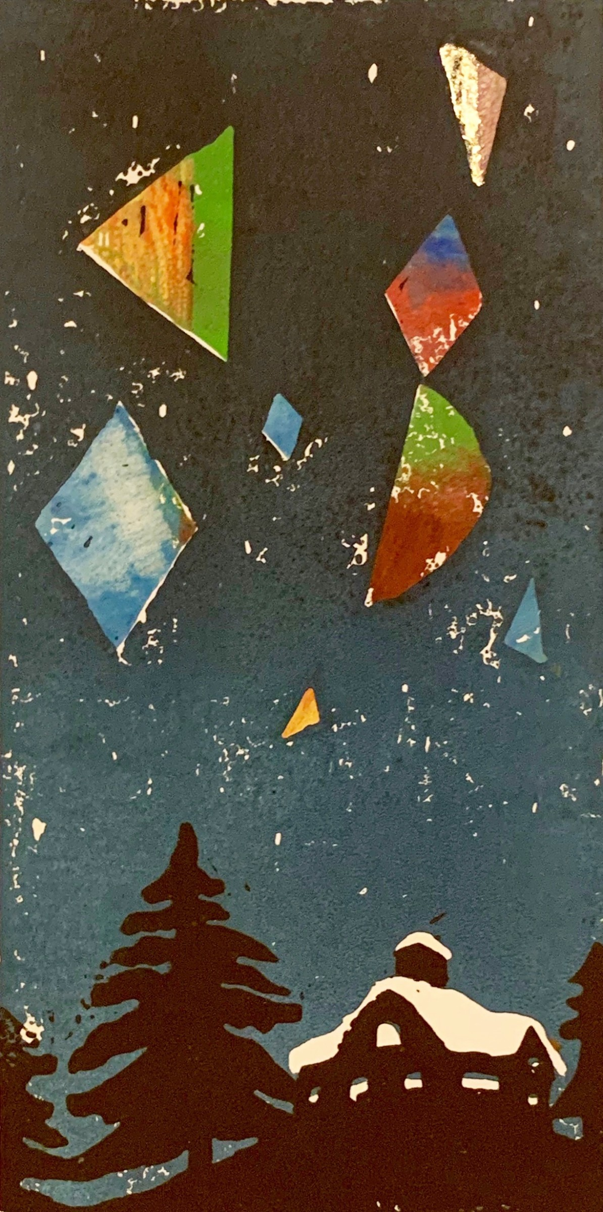"""<span class=""""link fancybox-details-link""""><a href=""""/exhibitions/17/works/image_standalone765/"""">View Detail Page</a></span><p><strong>Yo Okada</strong></p><p>Night Falling Snow and Geometric Patterns</p><p>linocut and watercolour, ed of 137</p><p>32 x 22cm</p><p>£220 framed</p><p>£180 unframed</p>"""