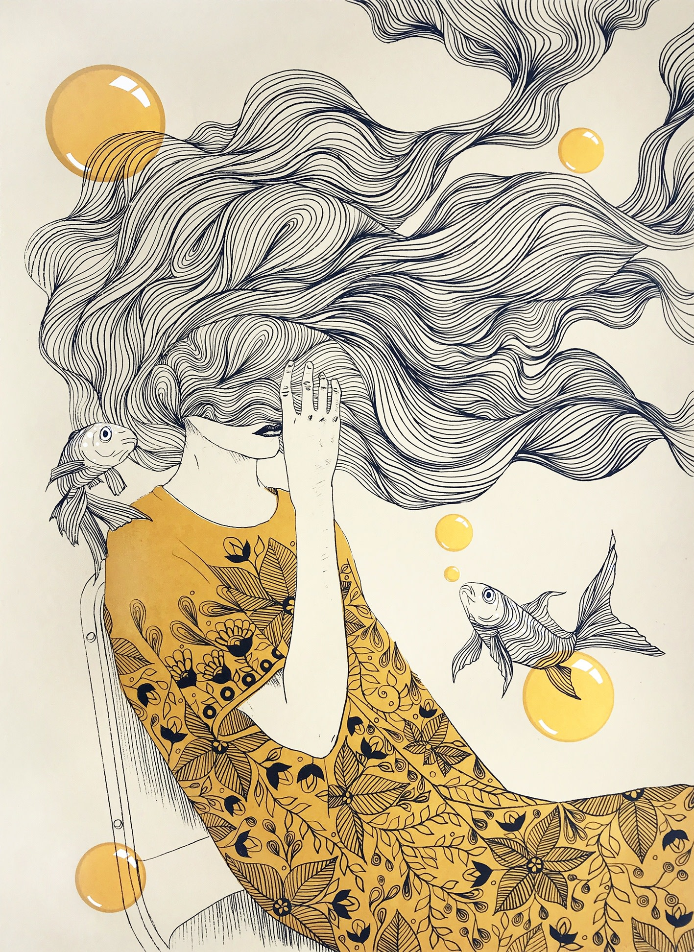 """<span class=""""link fancybox-details-link""""><a href=""""/exhibitions/17/works/image_standalone785/"""">View Detail Page</a></span><p><strong>Liz Ramos-Prado</strong></p><p>The Struggle is Real</p><p>screenprint, ed of 10</p><p>52 x 72cm</p><p>£640 framed</p><p>£500 unframed</p>"""